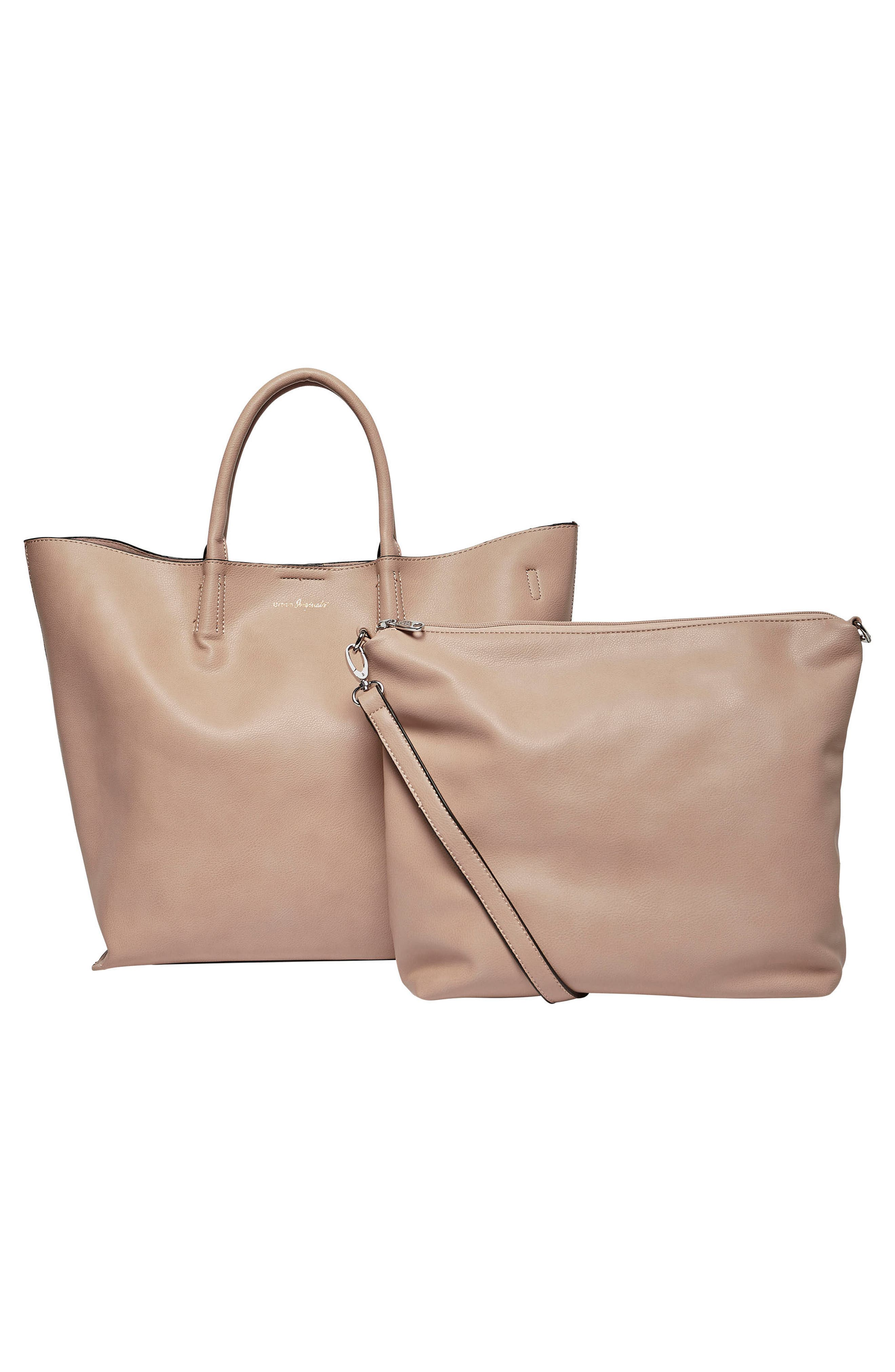 Butterfly Vegan Leather Tote,                             Alternate thumbnail 3, color,                             Nude