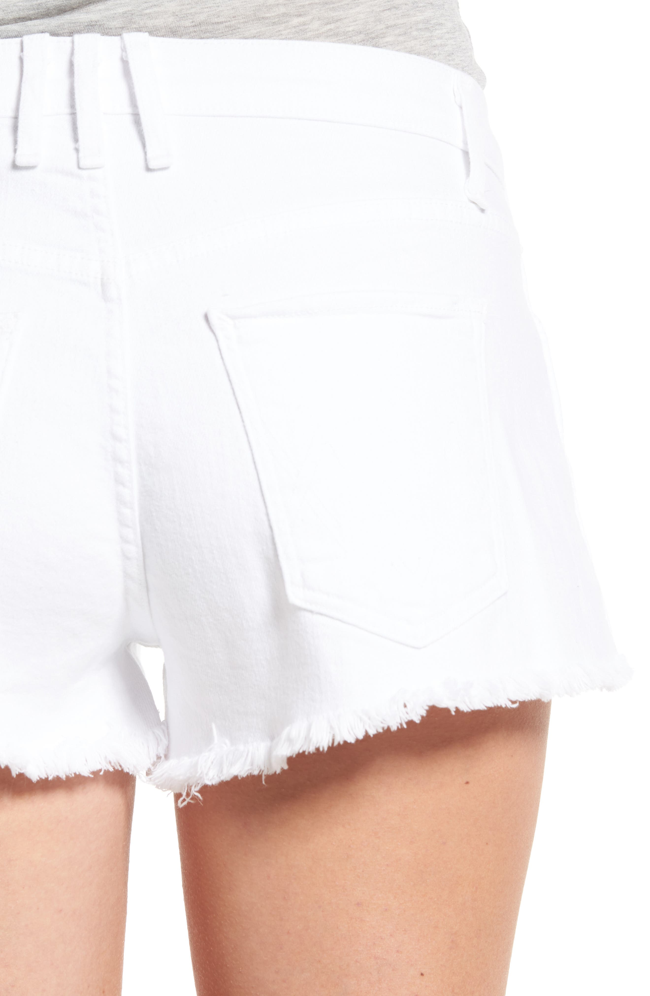 Alternate Image 4  - McGuire Pom Pom Cutoff Denim Shorts (Amaro)