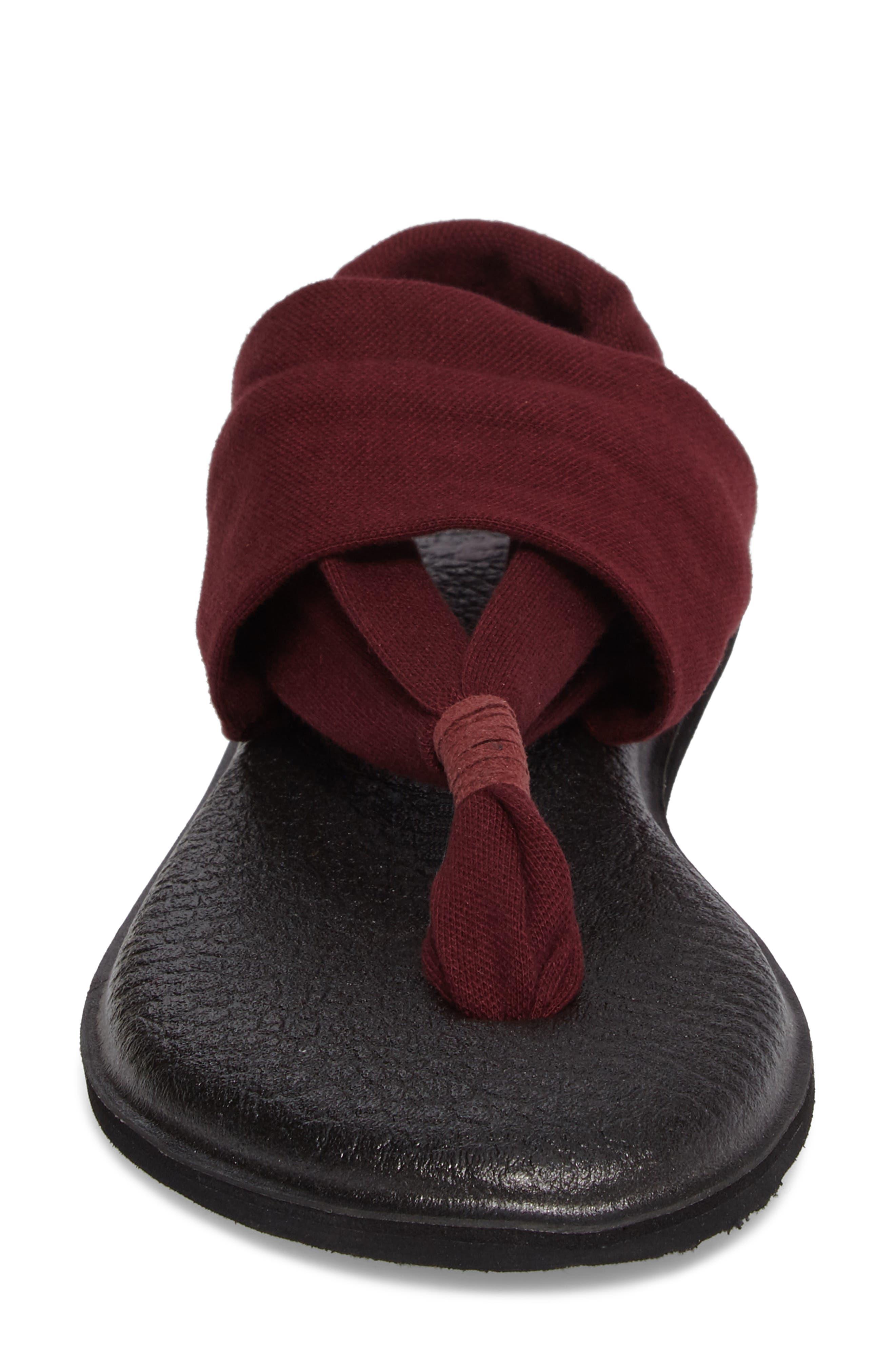 'Yoga Sling 2' Sandal,                             Alternate thumbnail 4, color,                             Burgundy