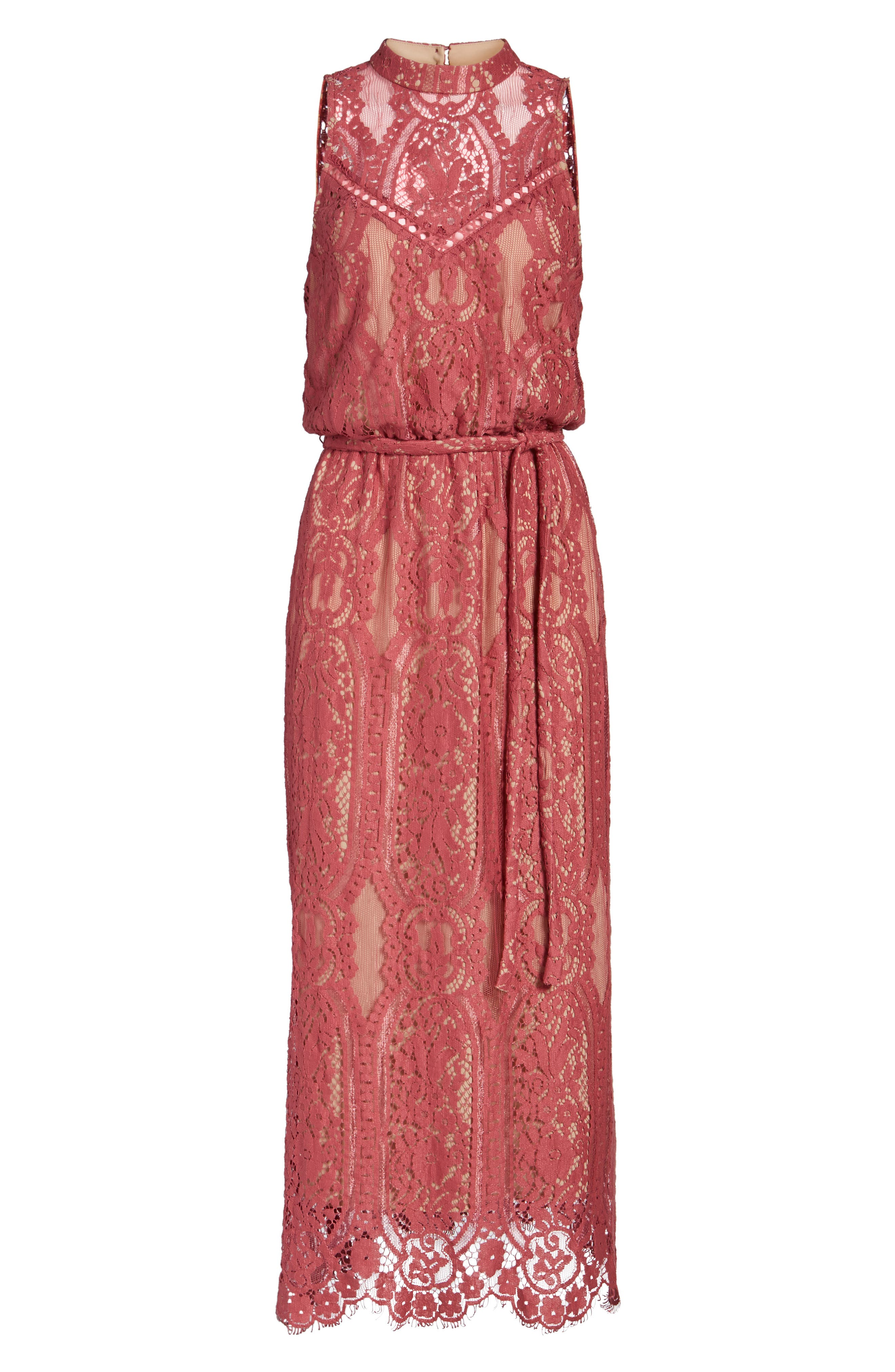 Alternate Image 6  - WAYF 'Portrait' Lace Midi Dress