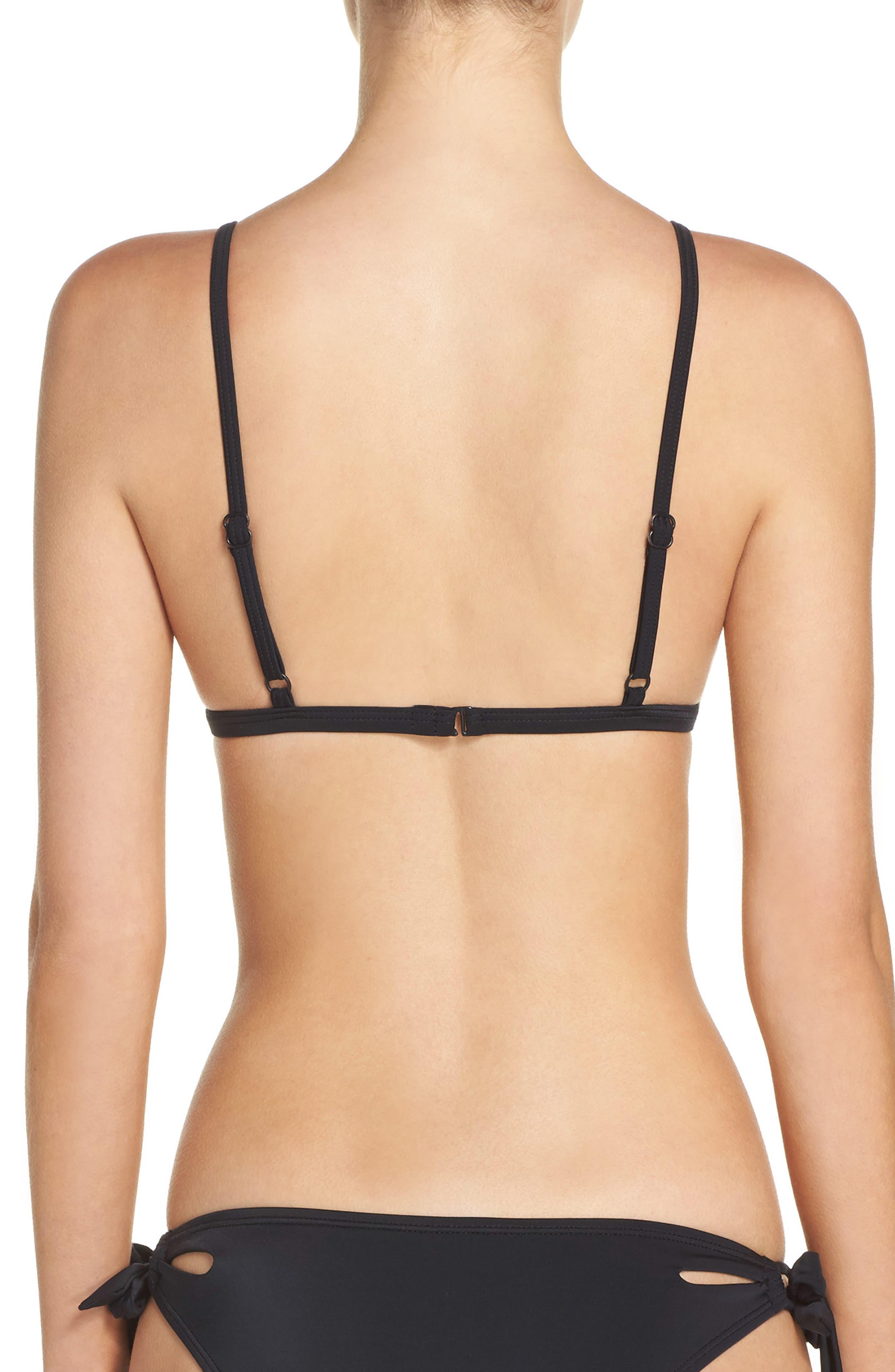 Triangle Bikini Top,                             Alternate thumbnail 2, color,                             Black