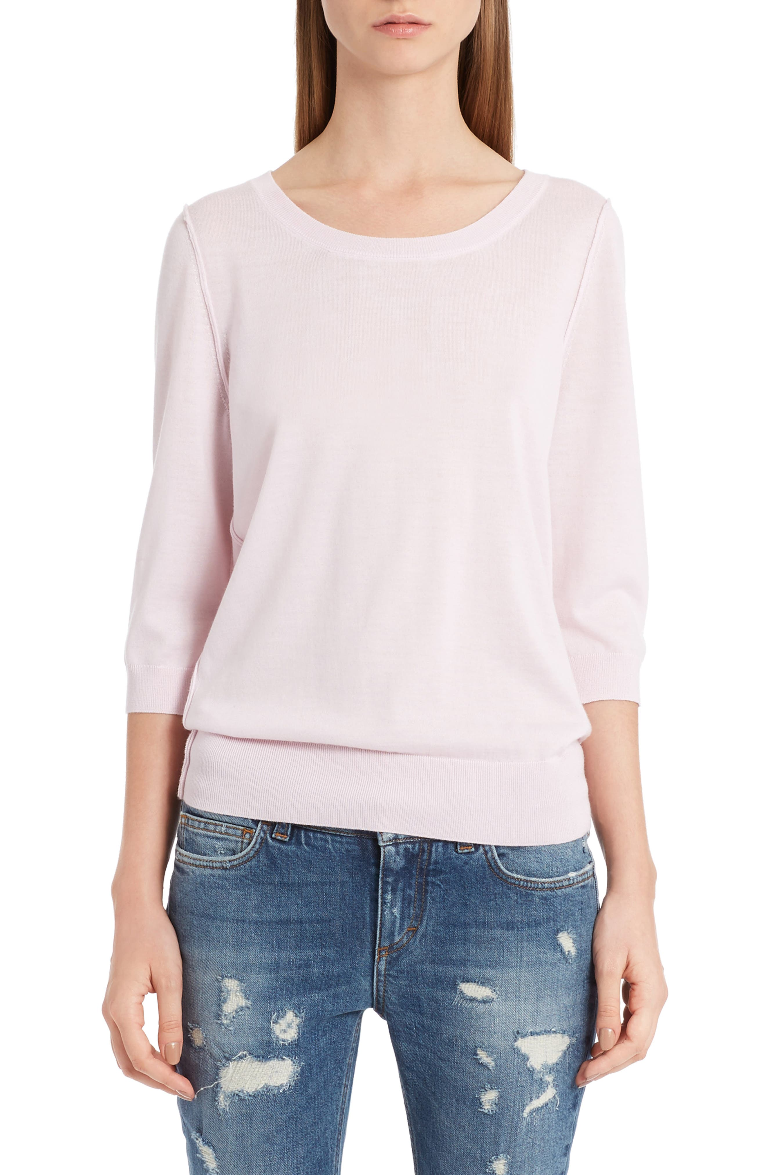 Cashmere Sweater,                         Main,                         color, Powder Pink