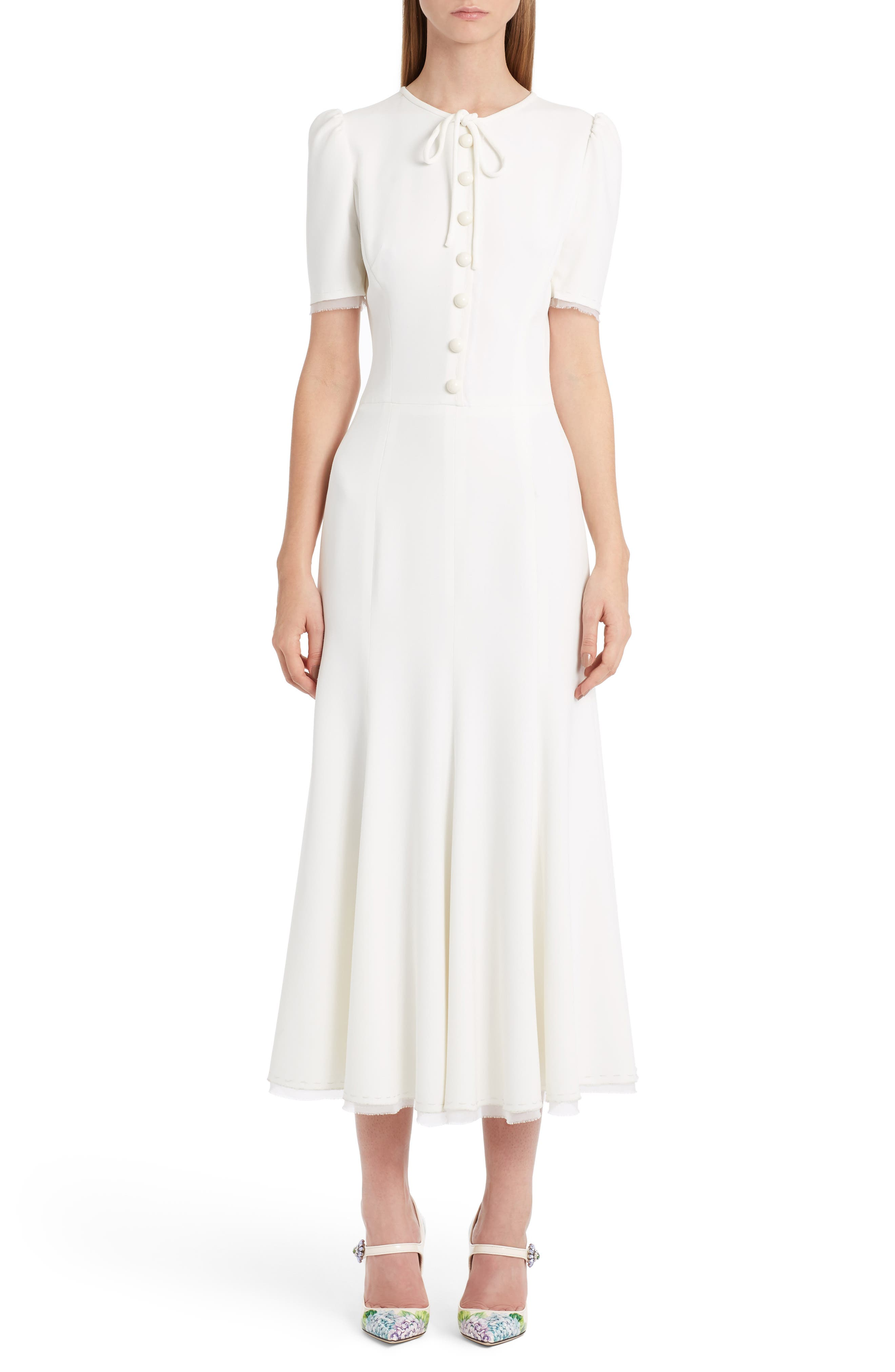 Alternate Image 1 Selected - Dolce&Gabbana Button Midi Dress