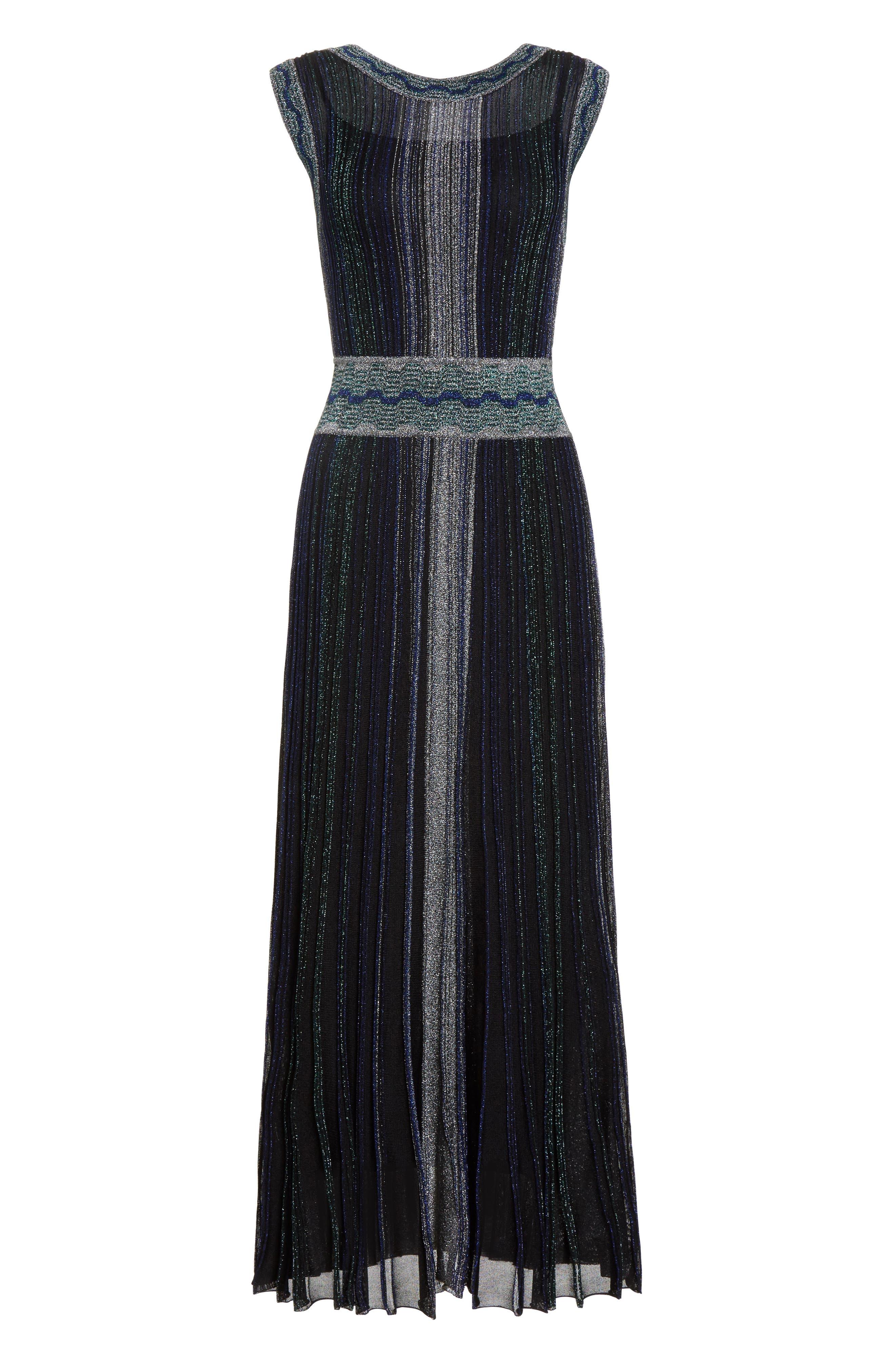 Alternate Image 5  - Missoni Reversible Metallic Rib Knit Dress