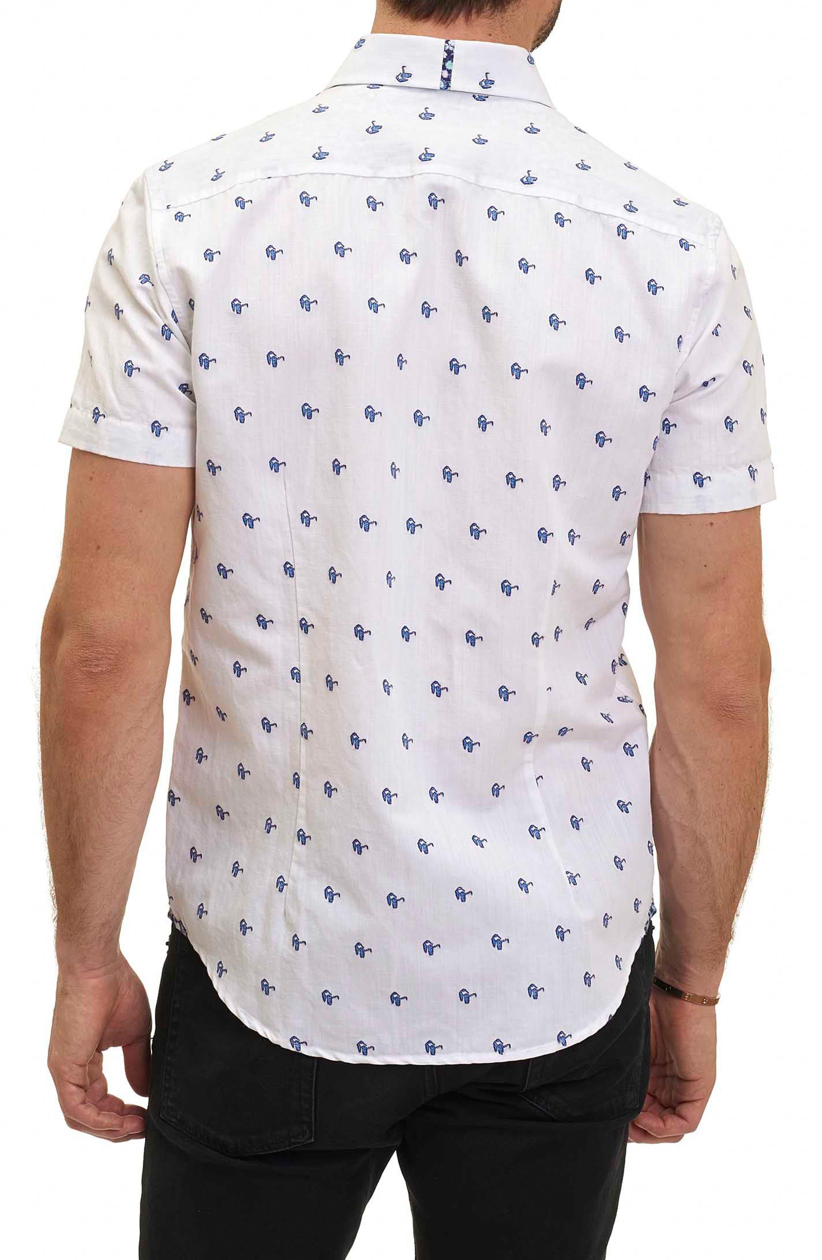 Alternate Image 2  - Robert Graham Tareck Tailored Fit Short Sleeve Sport Shirt