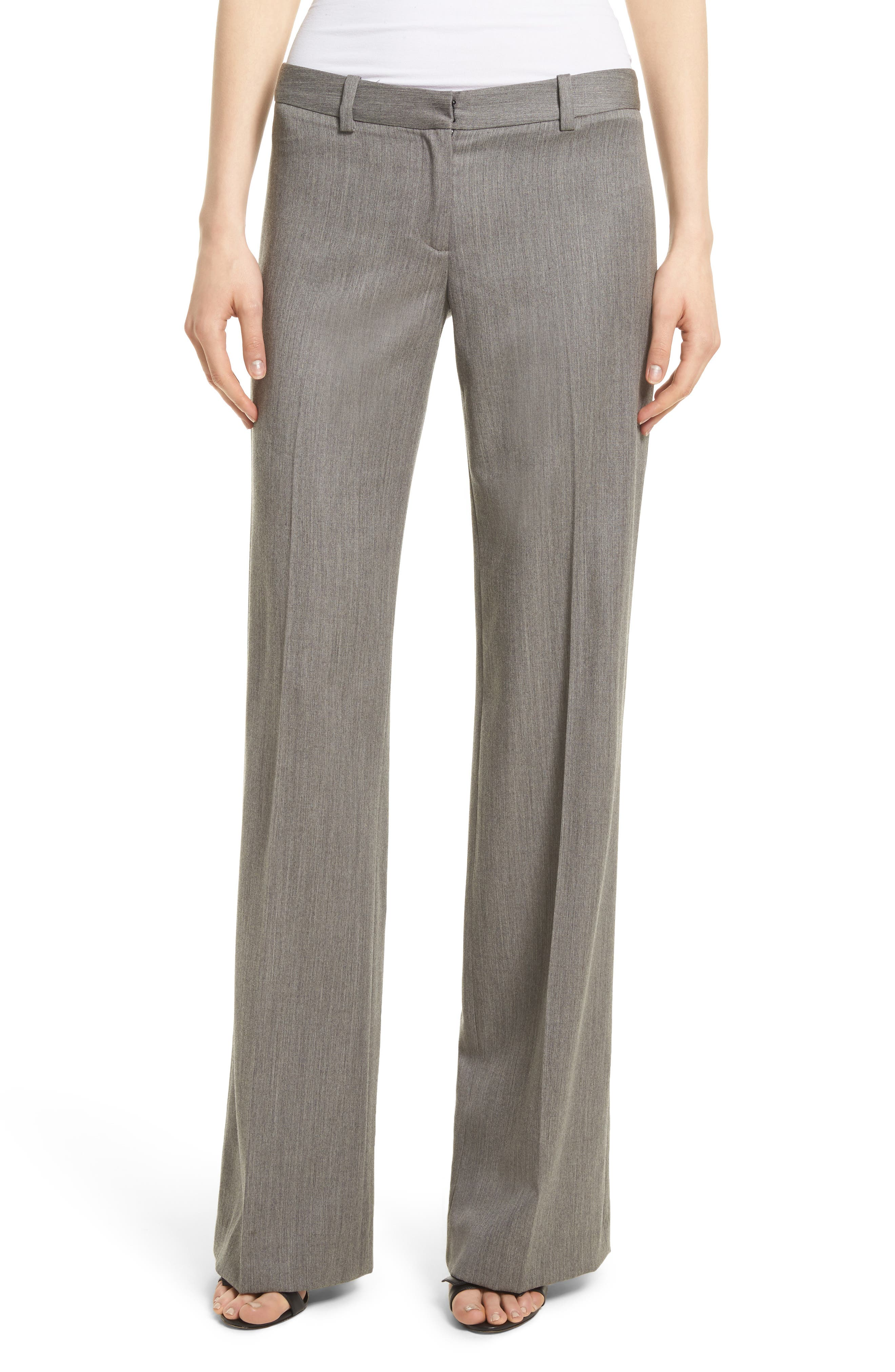 Dickies Straight Leg Gabardine Trousers,                             Main thumbnail 1, color,                             Grey