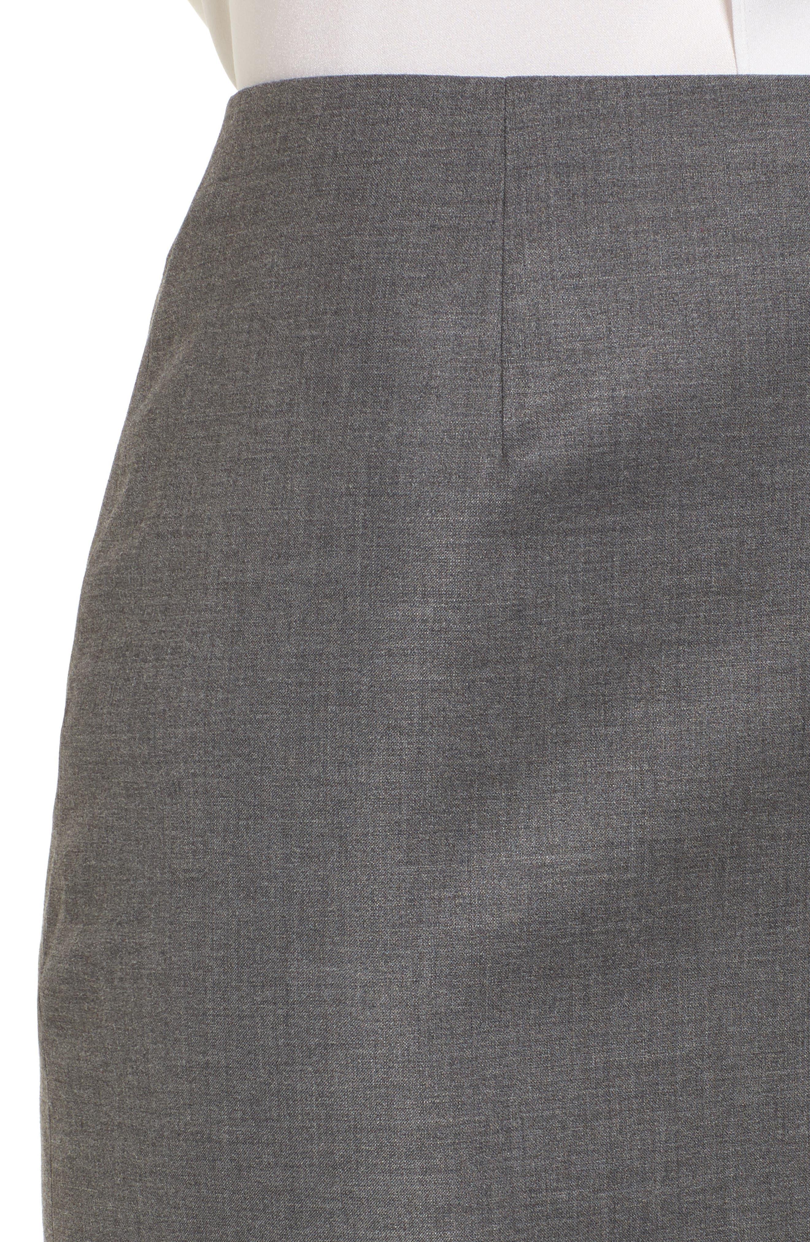 Alternate Image 5  - BOSS Vileana Wool Blend Suit Skirt