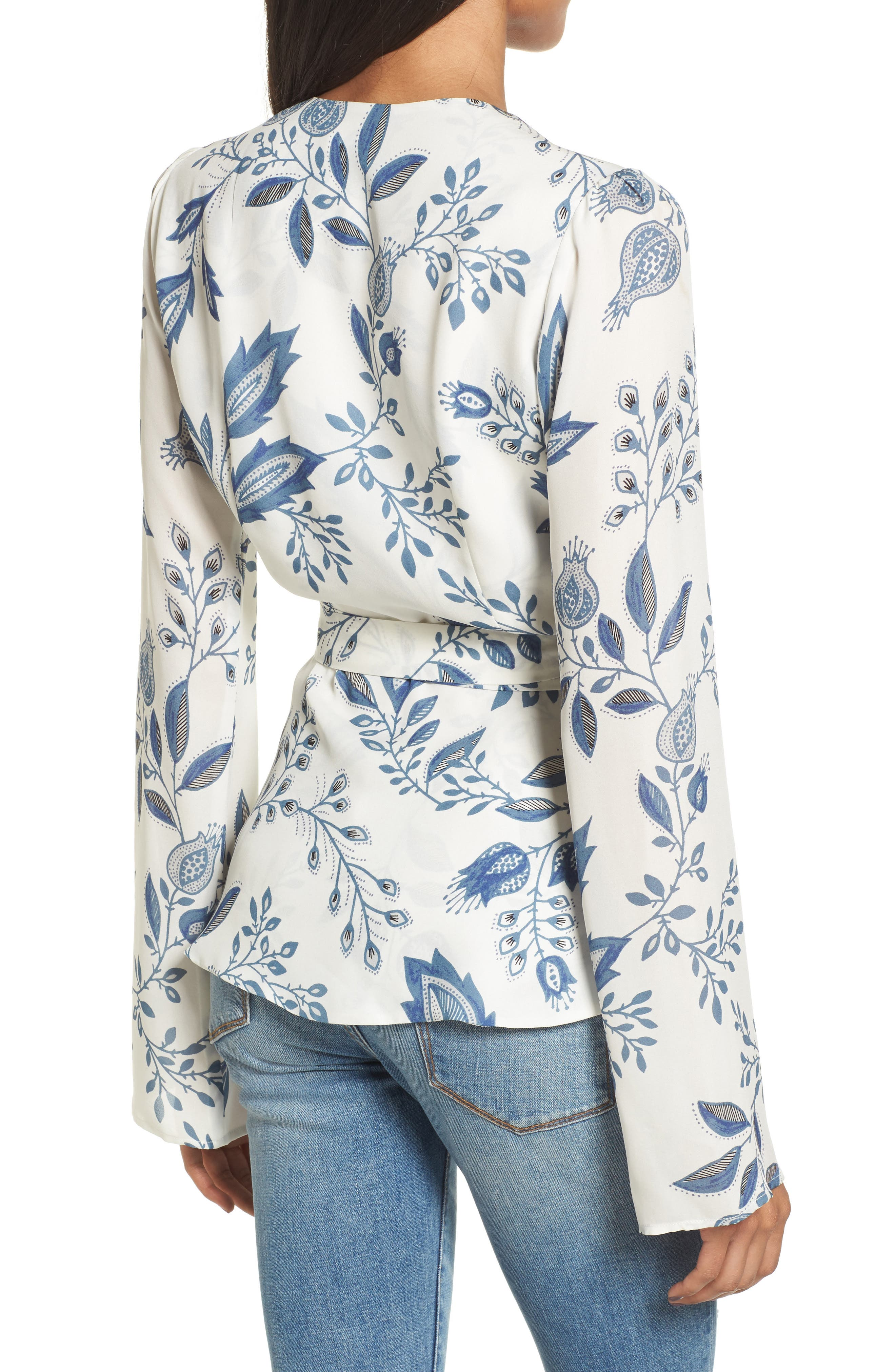 Alternate Image 2  - Stone Cold Fox Dover Silk Wrap Blouse