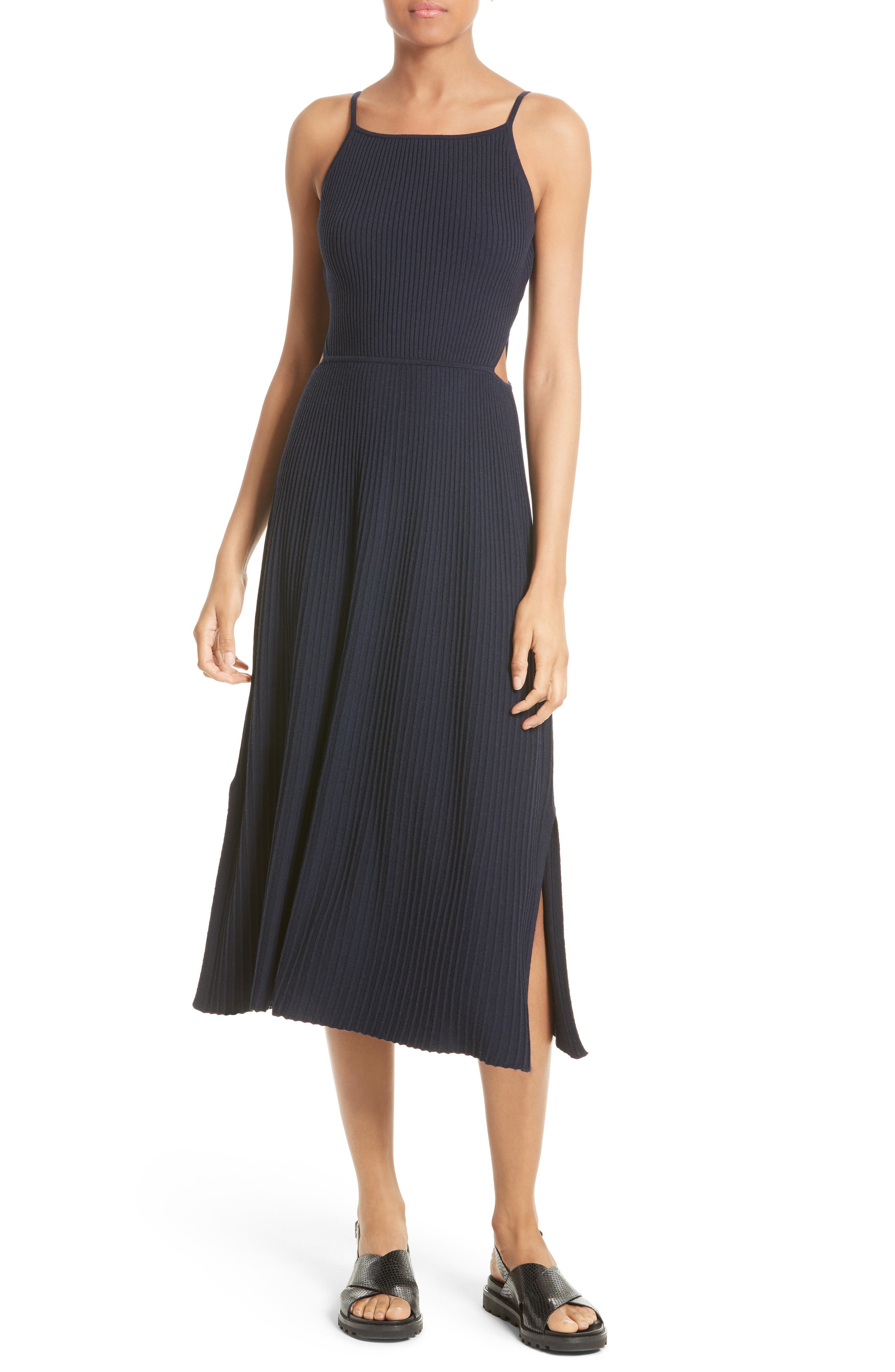 Elizabeth and James Josette Merino Wool Blend Apron Dress