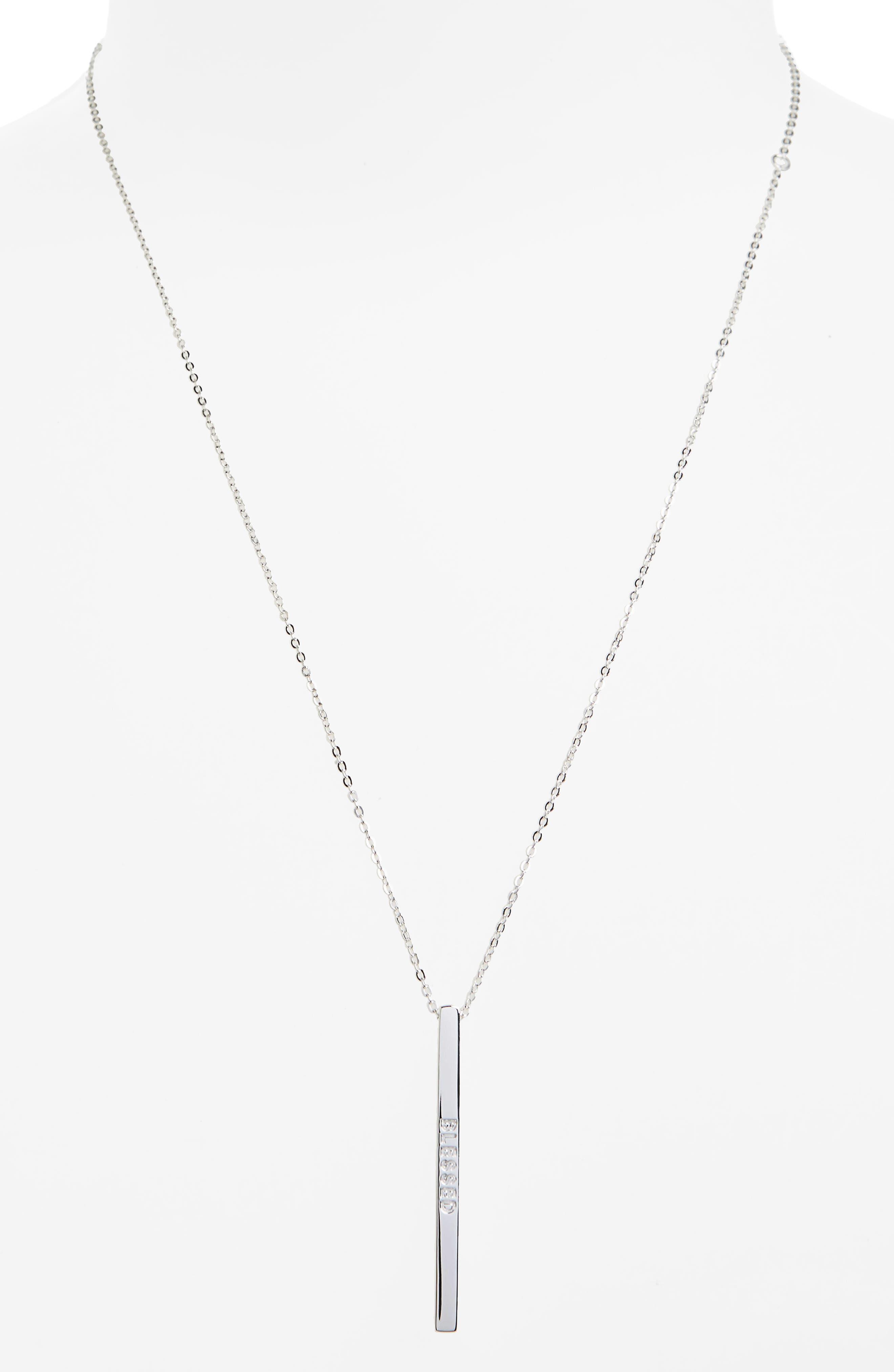 Alternate Image 2  - MantraBand® Blessed Pendant Necklace