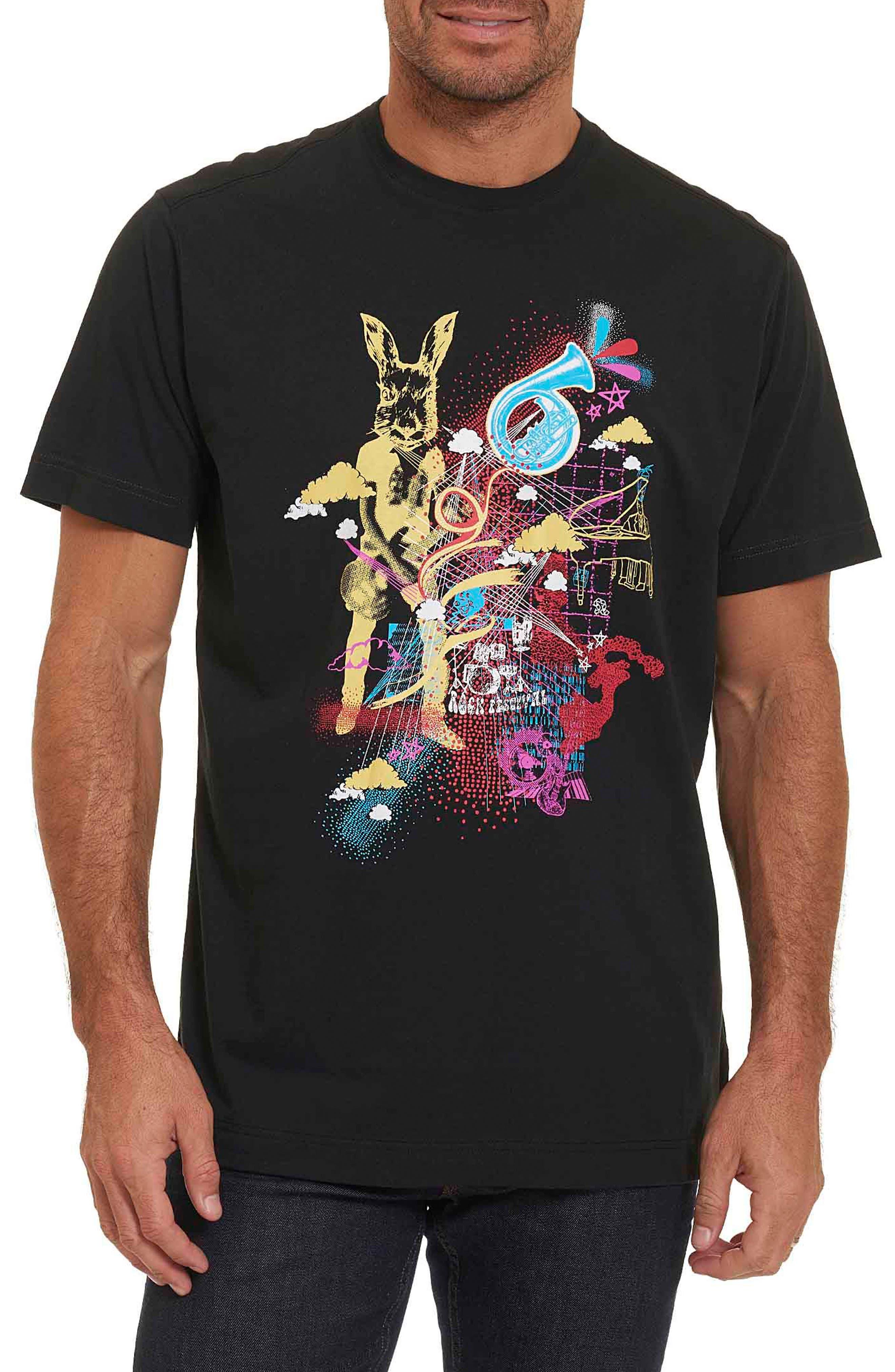 Robert Graham Monterey Pop Classic Fit Graphic T-Shirt