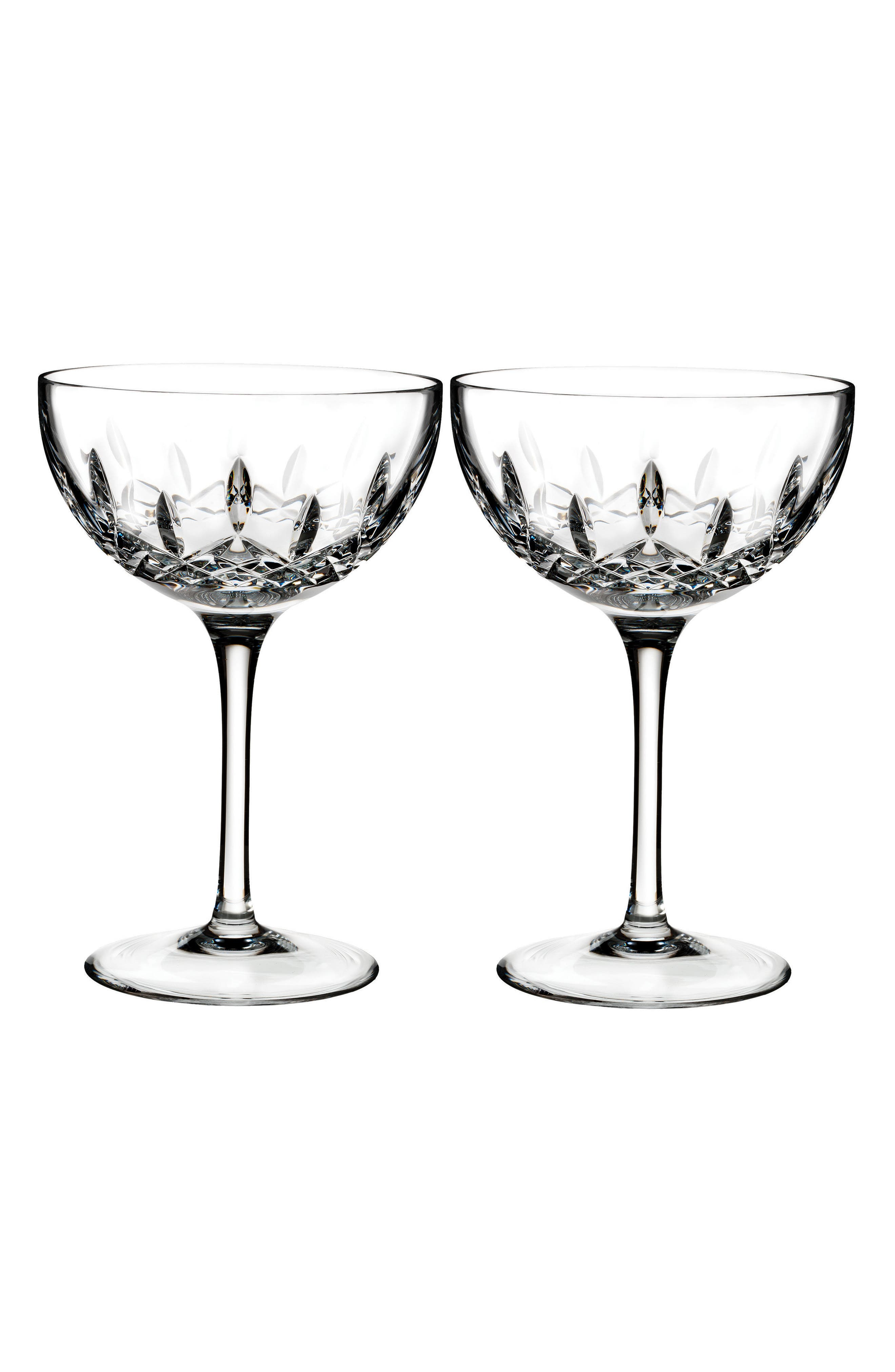 Waterford Lismore Pops Set of 2 Lead Crystal Cocktail Glasses