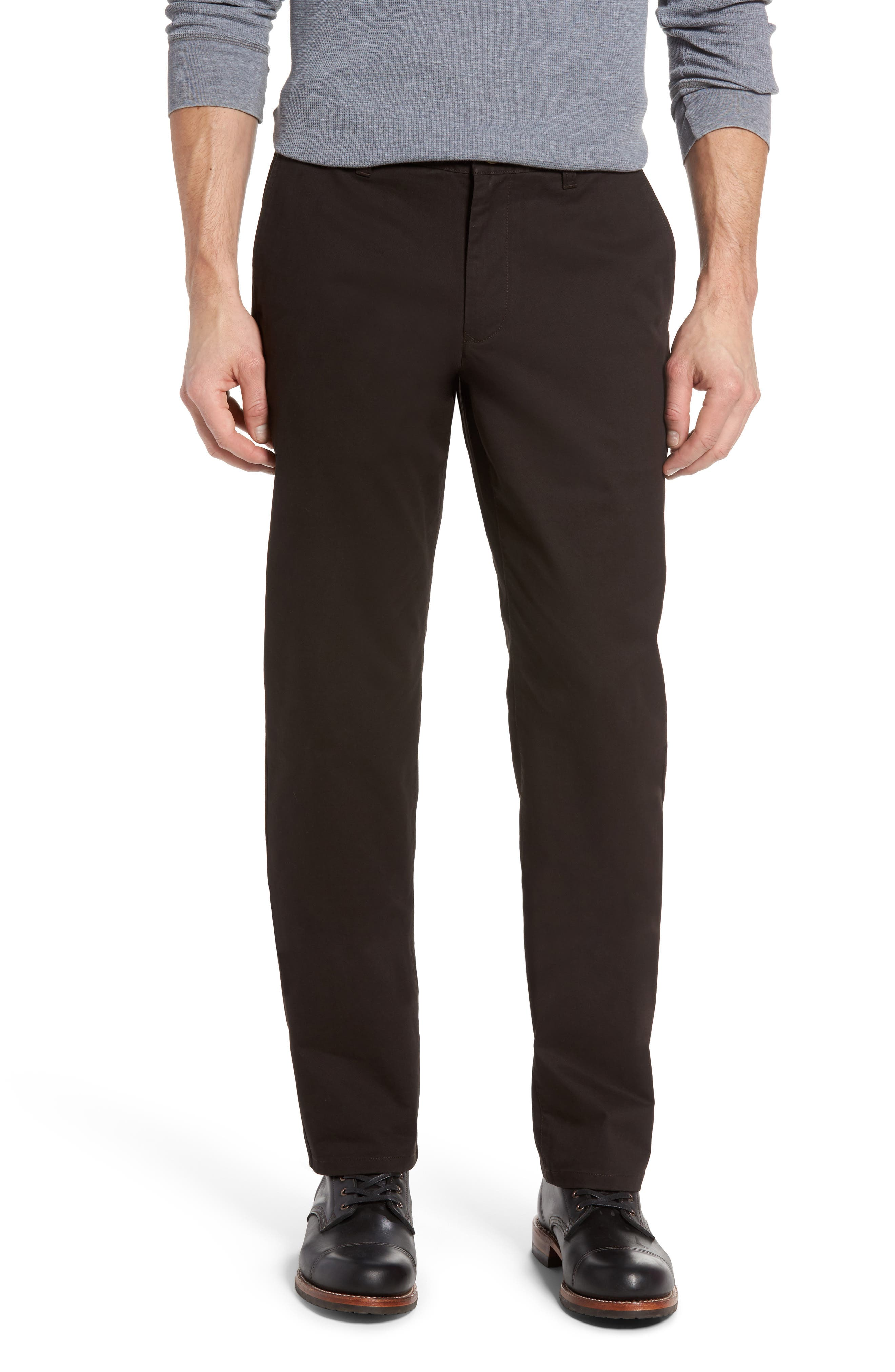 Straight Leg Stretch Washed Chinos,                         Main,                         color, Chocolate Ale