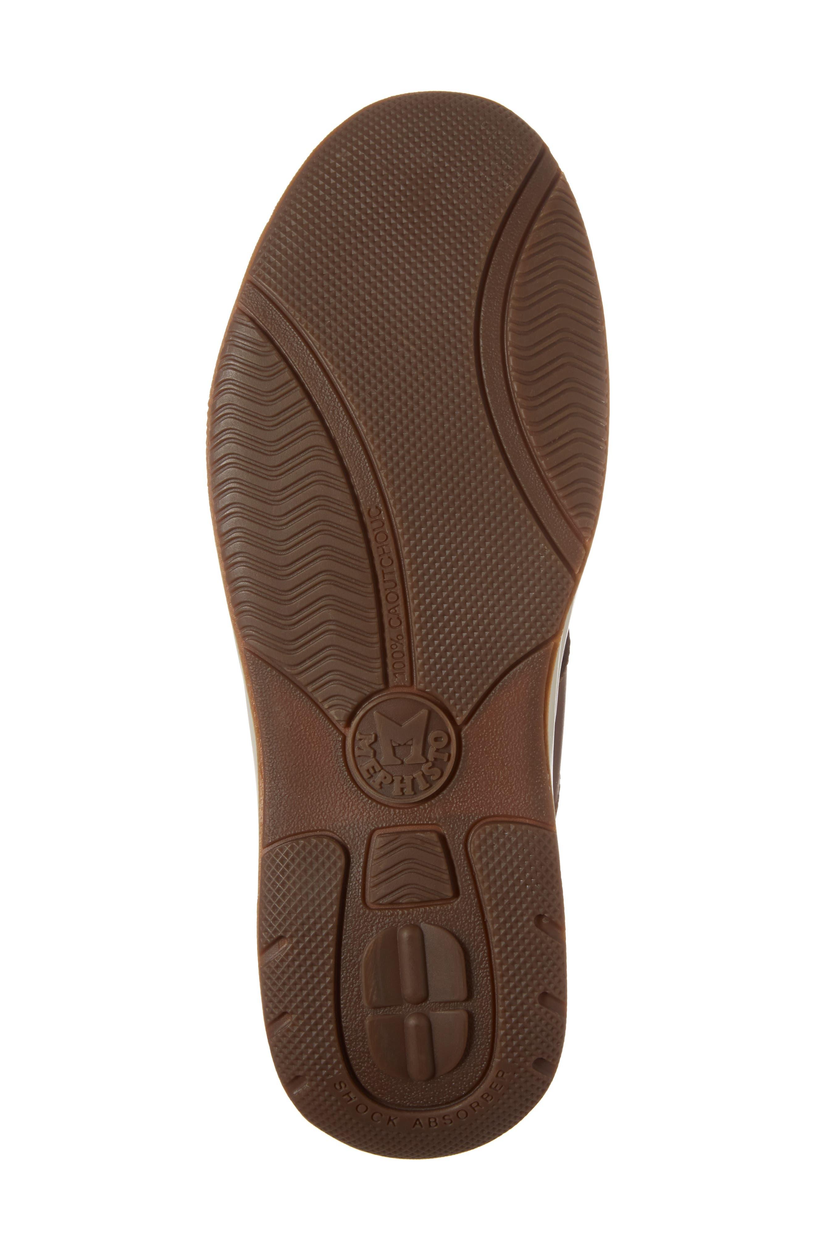 'Hero' Perforated Sneaker,                             Alternate thumbnail 6, color,                             Chestnut Nubuck Leather