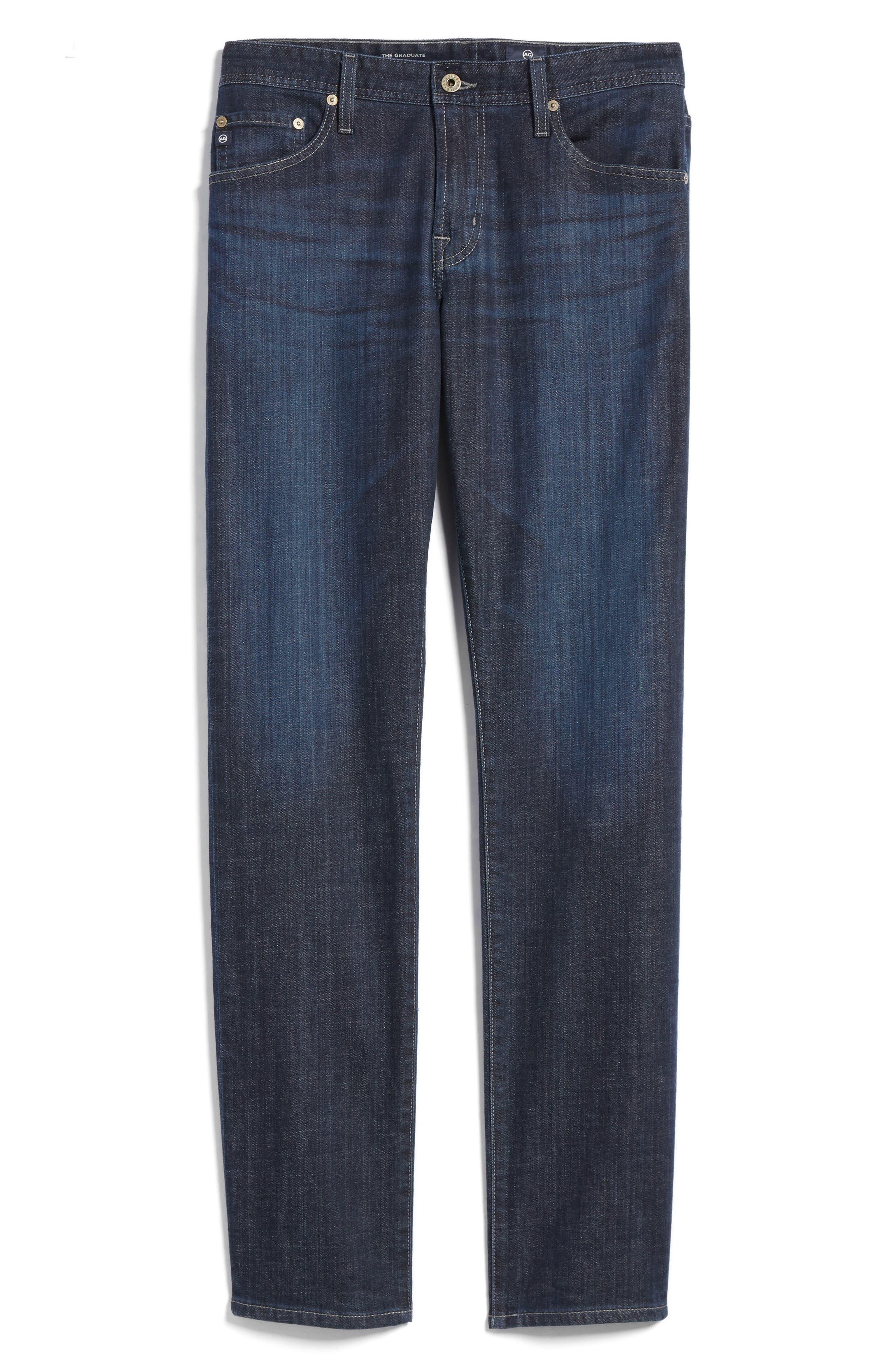 Alternate Image 6  - AG Graduate Slim Straight Leg Jeans (Balcony) (Regular & Tall)