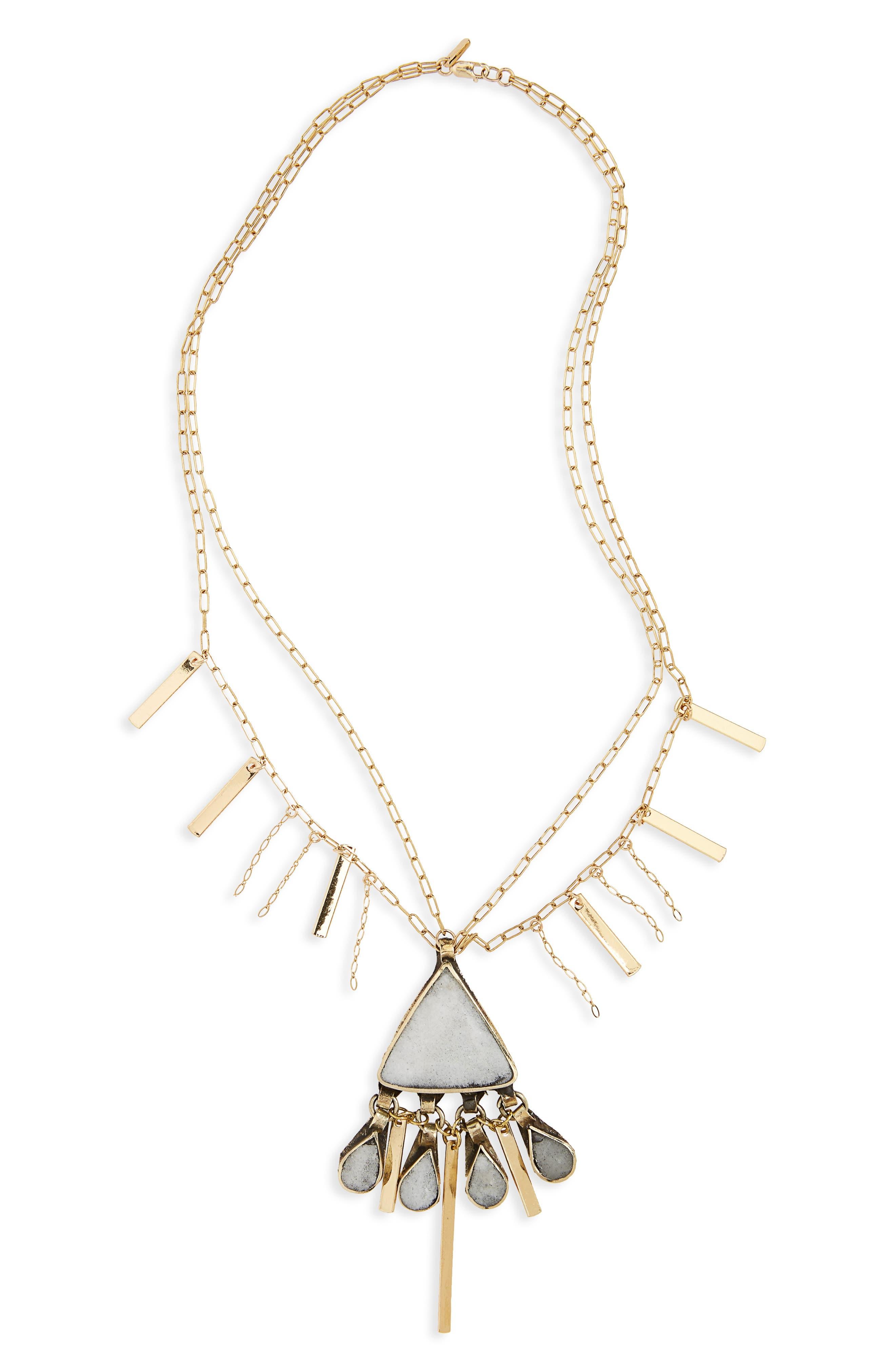 Gia Pendant Necklace,                         Main,                         color, Gold