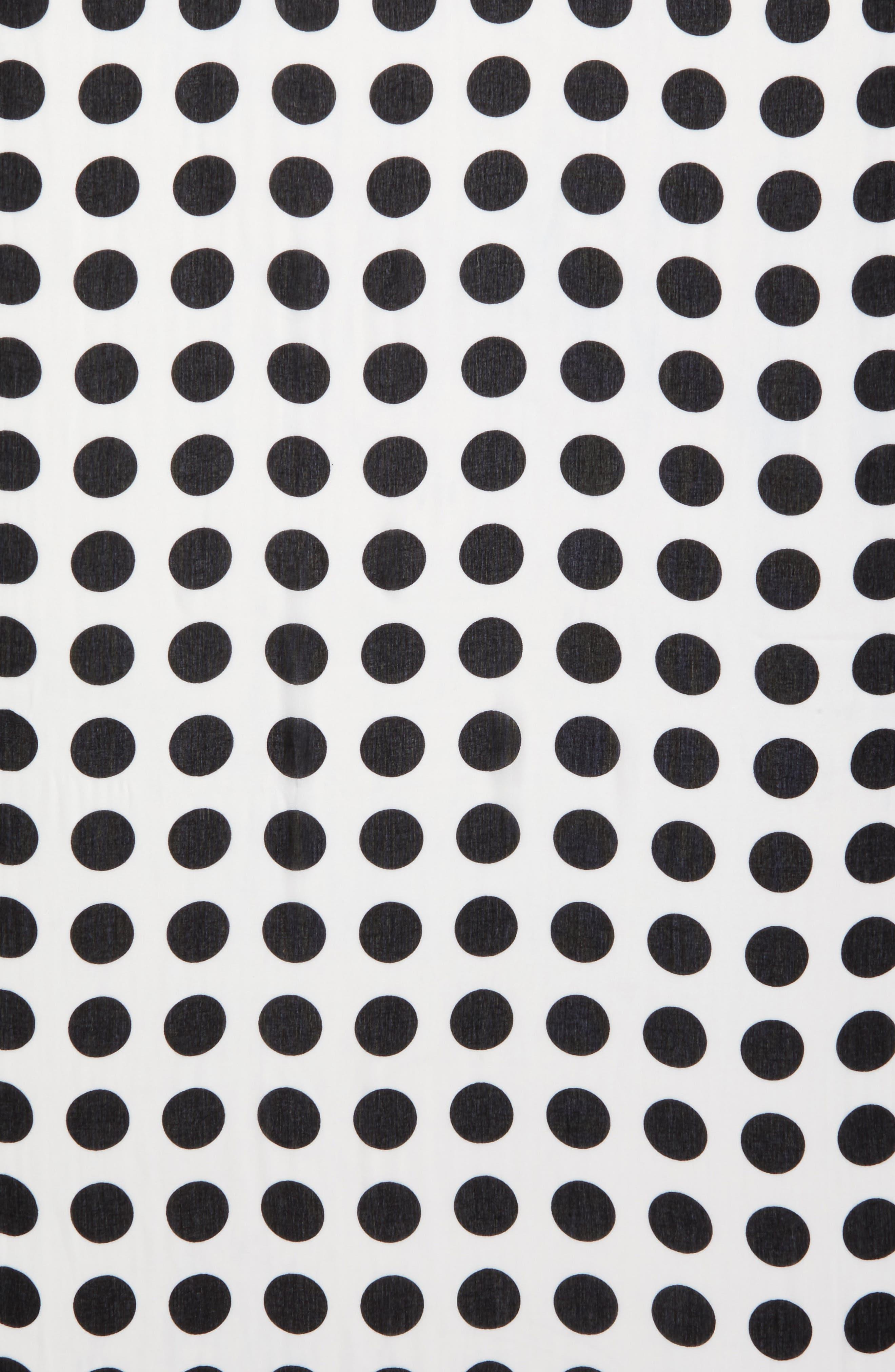 grid dot scarf,                             Alternate thumbnail 3, color,                             Cream