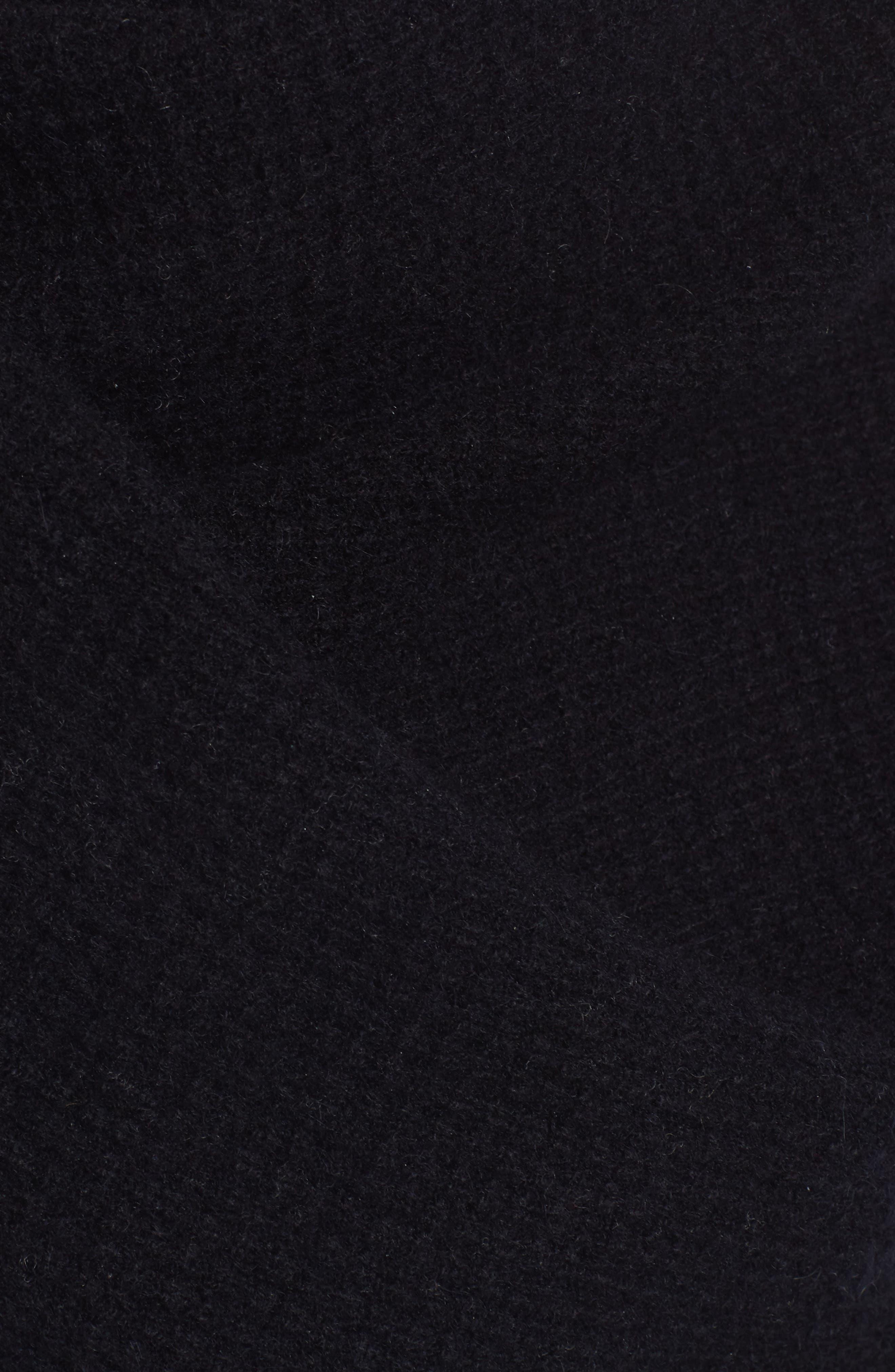Waffle Knit Cashmere Wrap,                             Alternate thumbnail 6, color,                             Black