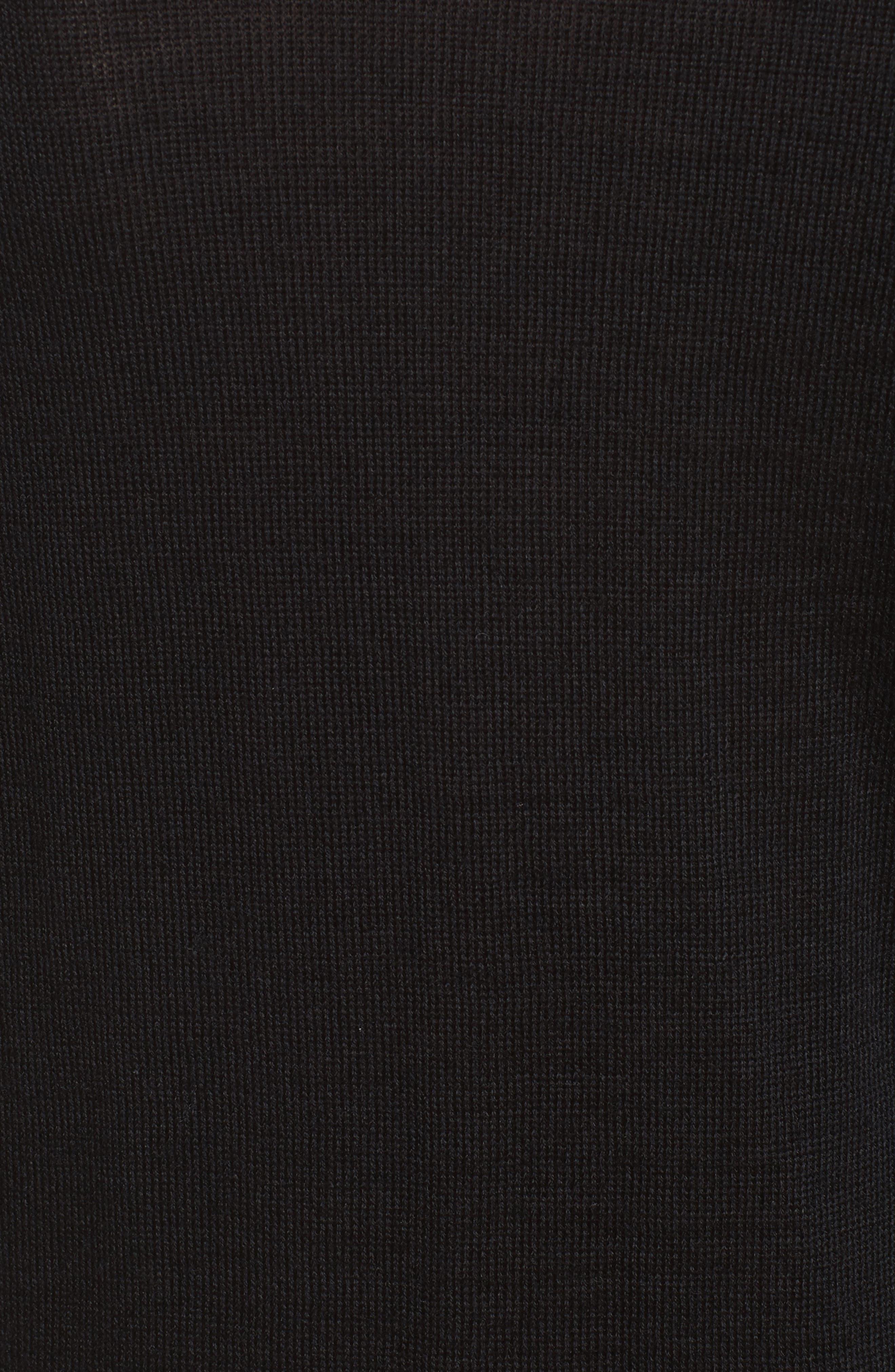 Floral Appliqué Button Cardigan,                             Alternate thumbnail 3, color,                             Black