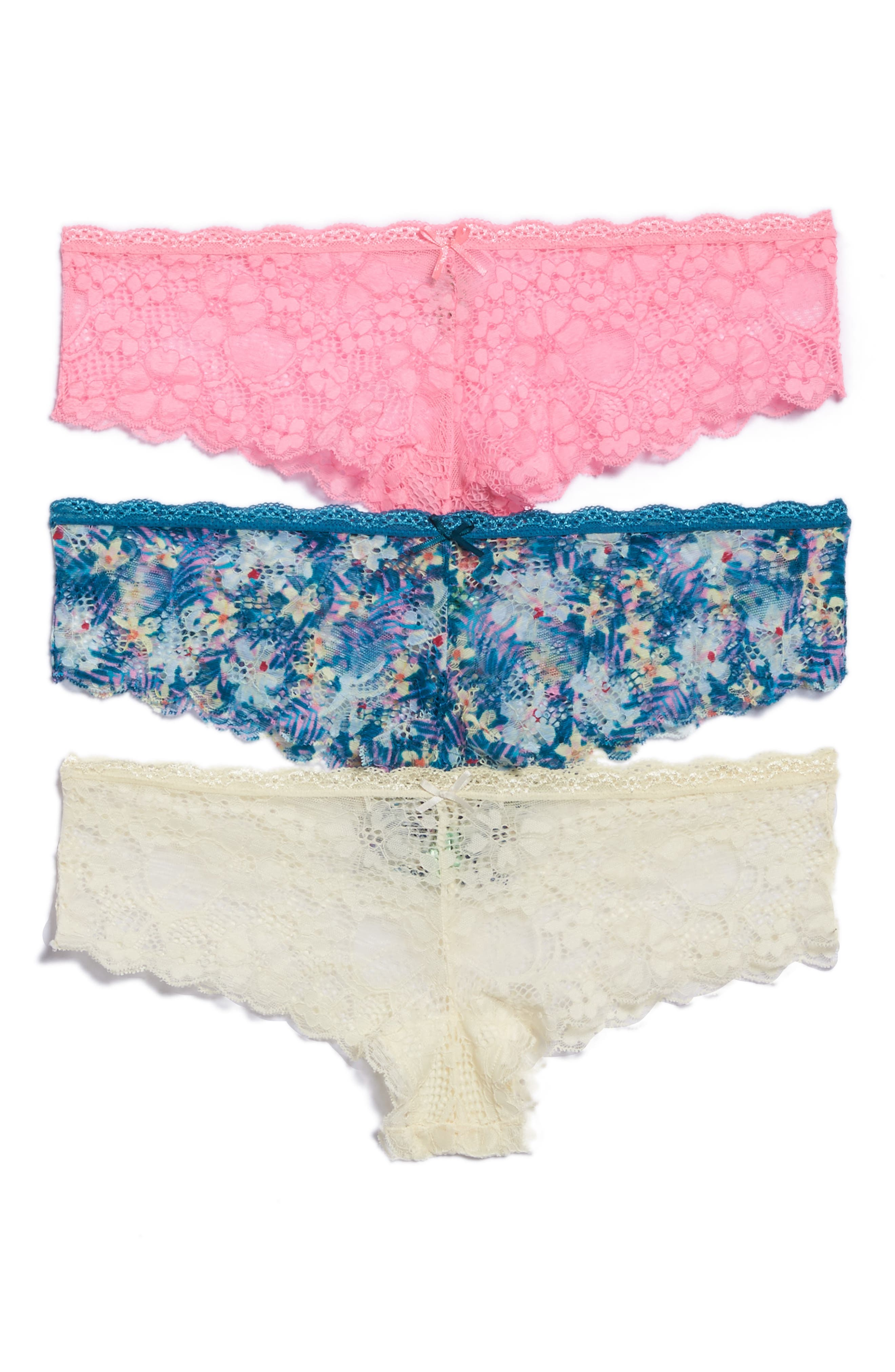 Alternate Image 1 Selected - Honeydew Intimates 3-Pack Lace Hipster Panties