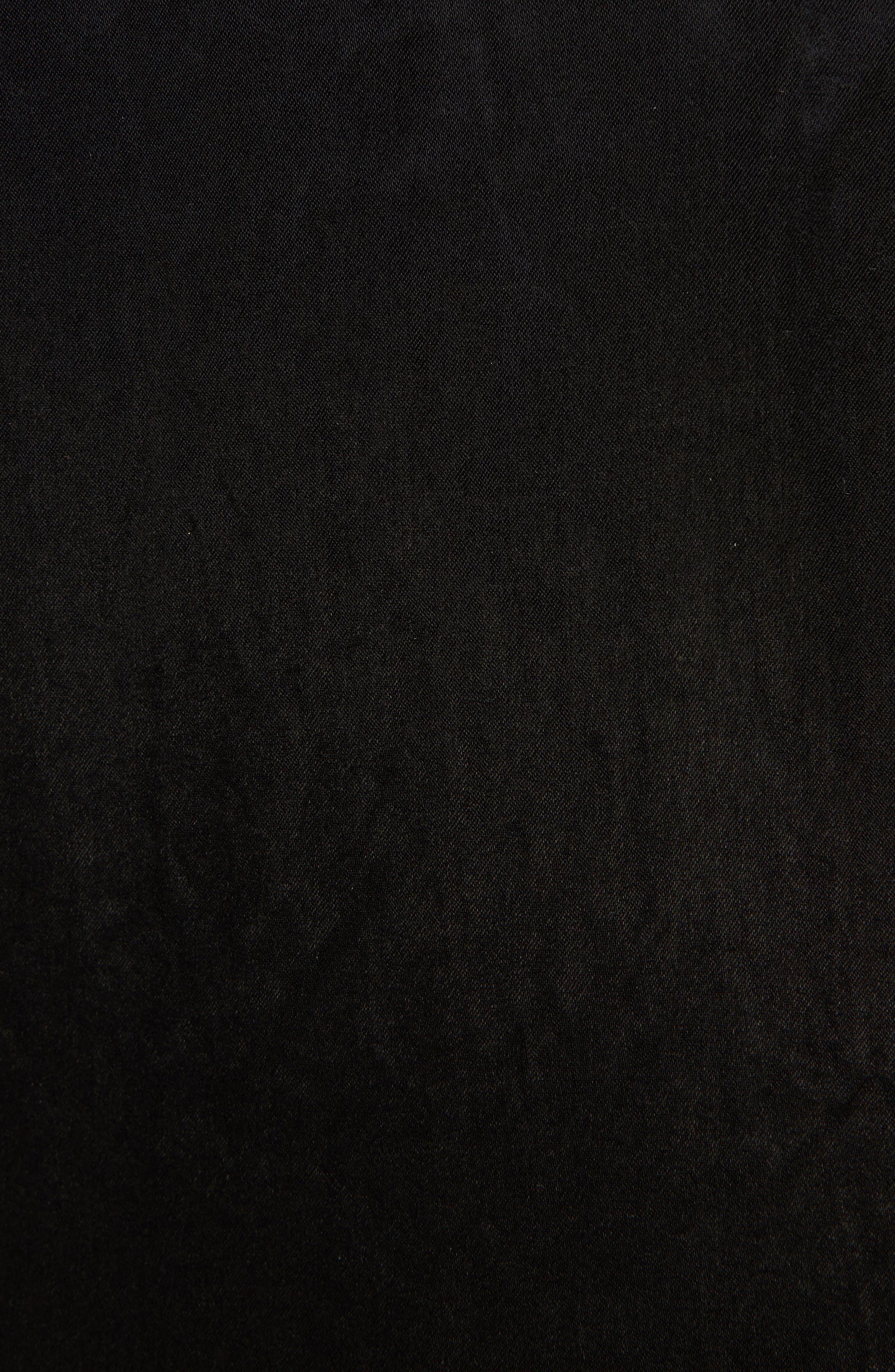 Dorina Flounce Sleeve Dress,                             Alternate thumbnail 5, color,                             Black