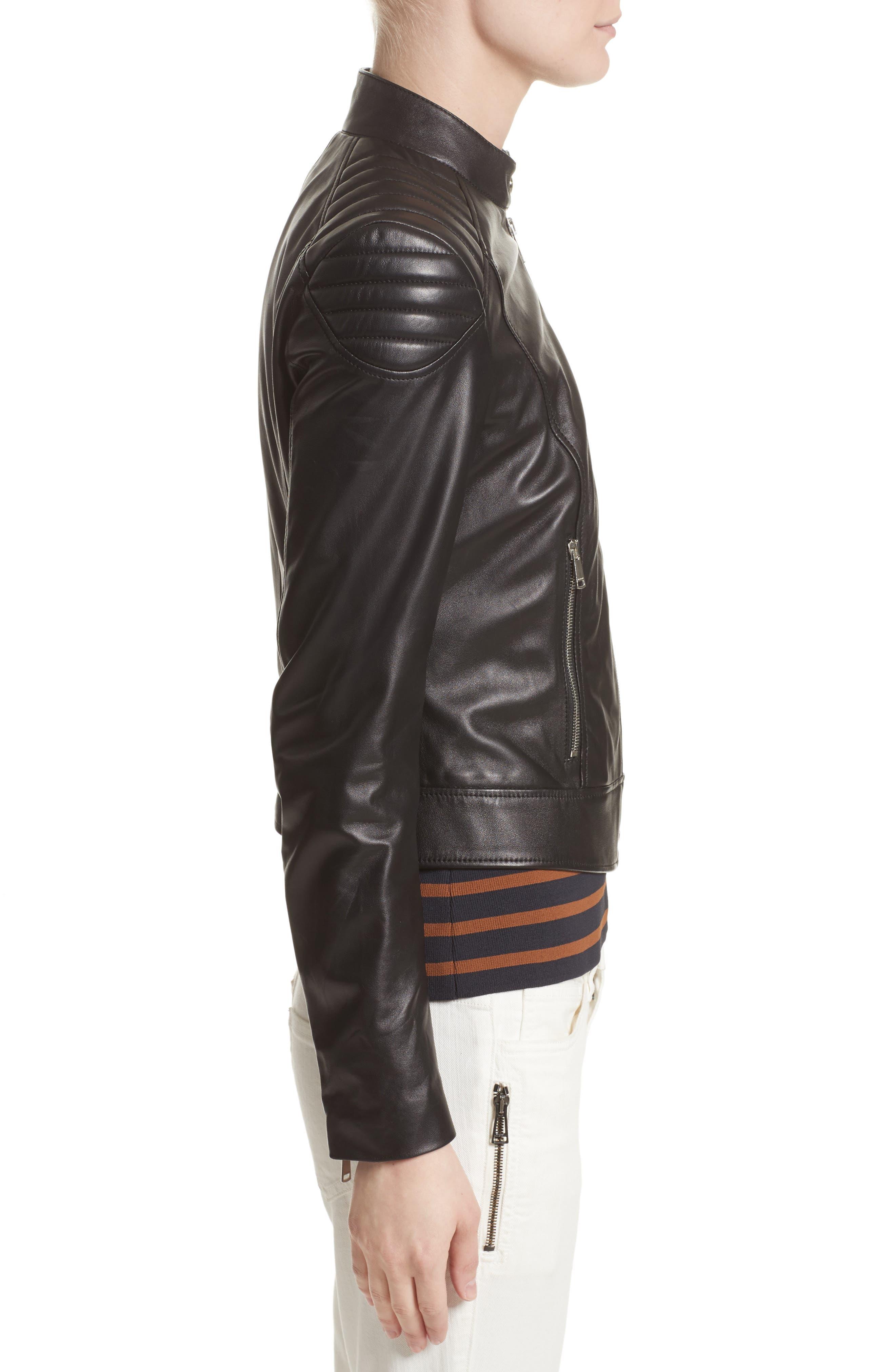 Alternate Image 5  - Belstaff Mollison Leather Moto Jacket