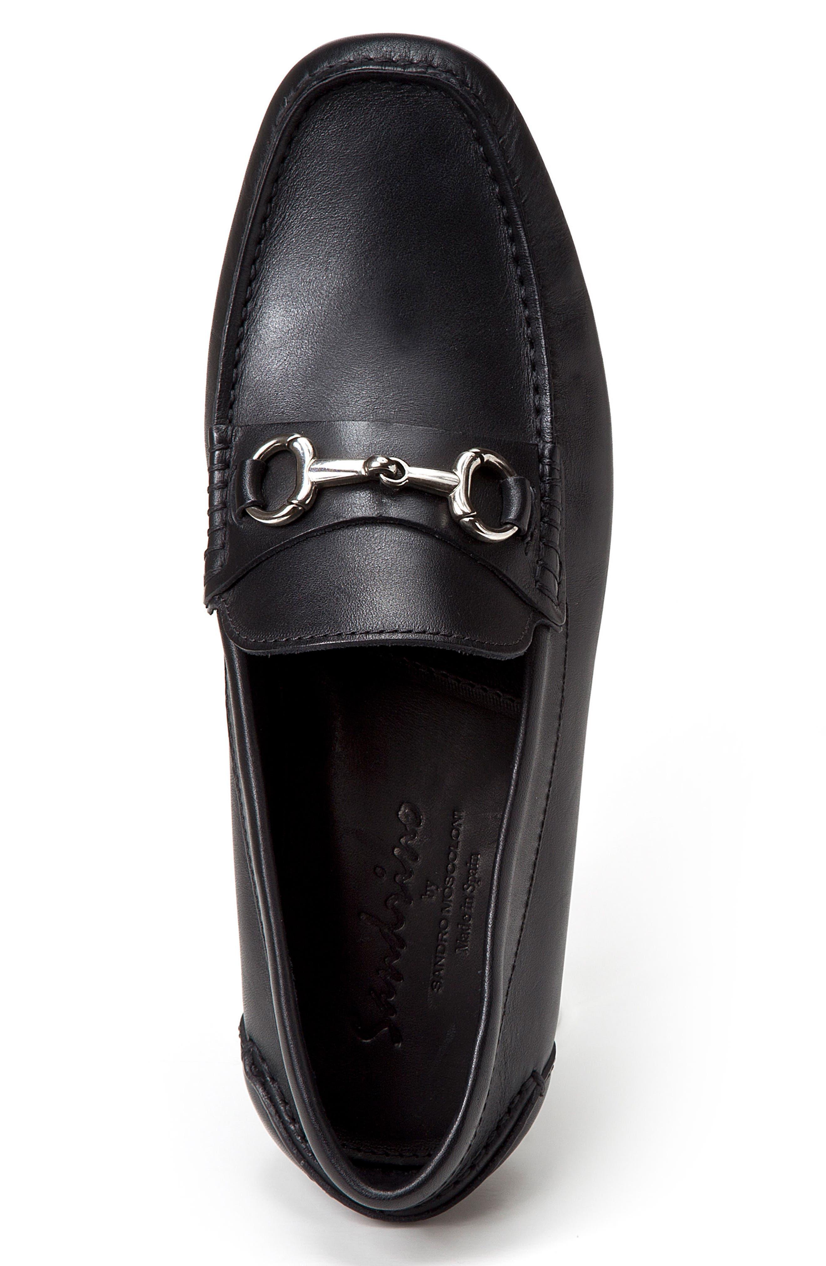 Marco Moc Toe Loafer,                             Alternate thumbnail 3, color,                             Black Leather