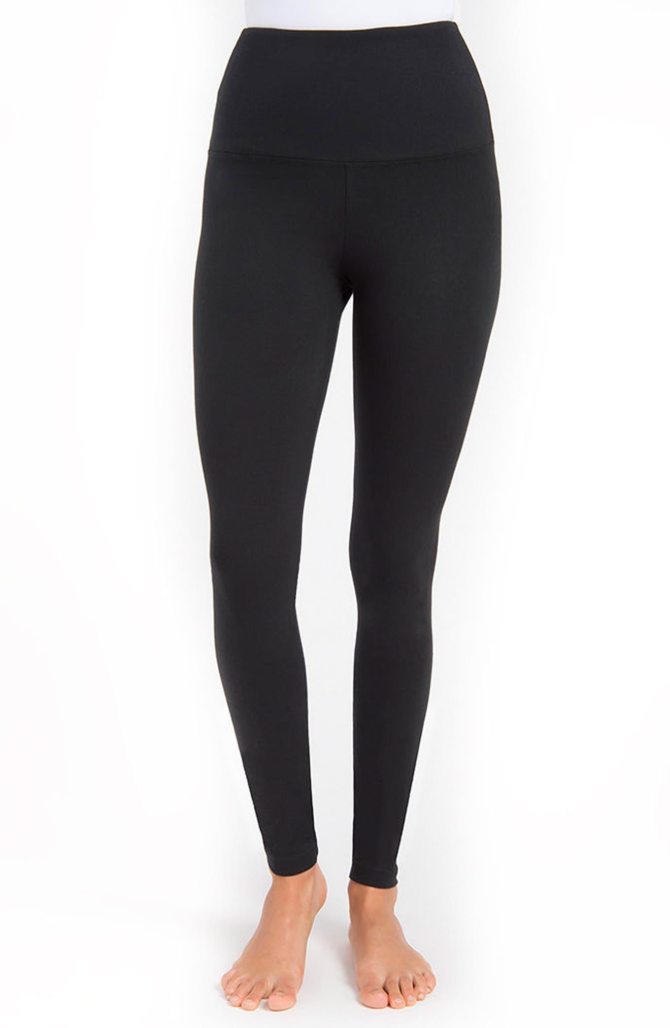 Control Top High Waist Leggings,                         Main,                         color, Black