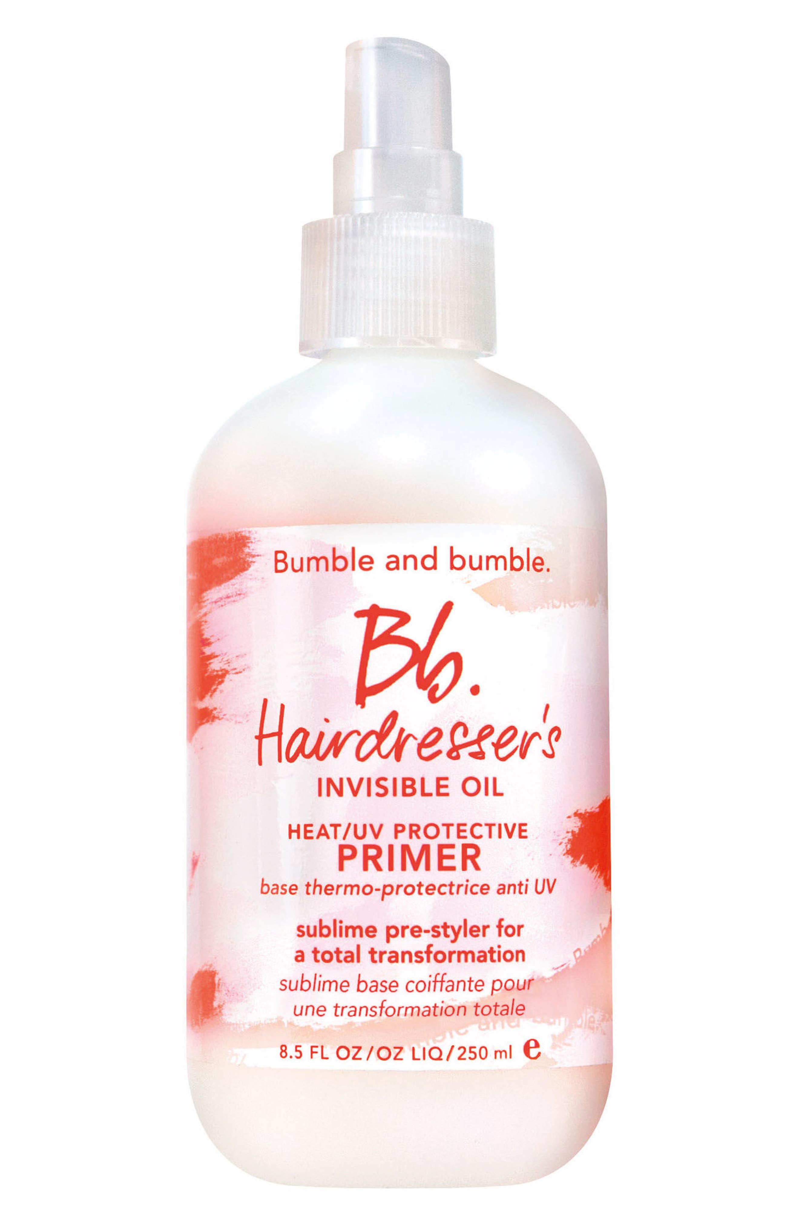 Hairdresser's Invisible Oil Heat/UV Protective Primer,                         Main,                         color, No Color