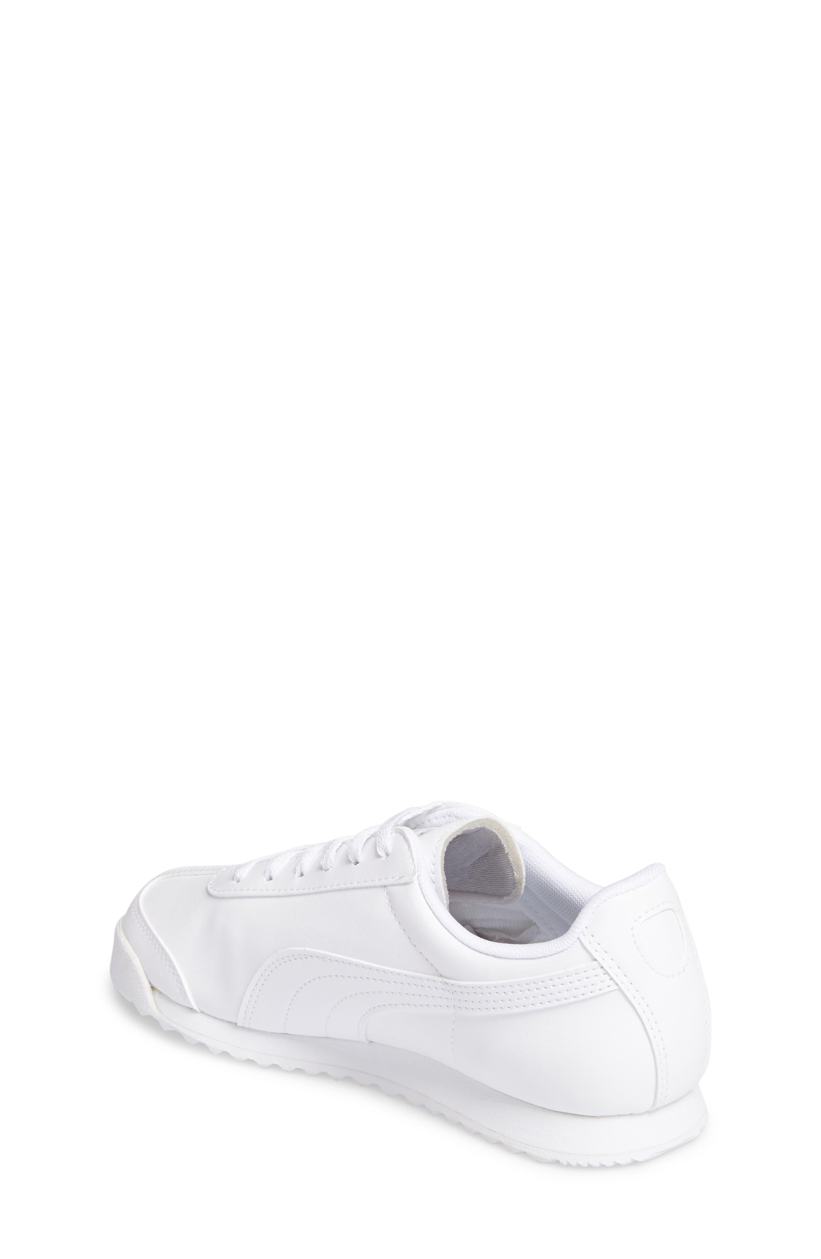 Roma Basic Sneaker,                             Alternate thumbnail 2, color,                             White/ Light Grey