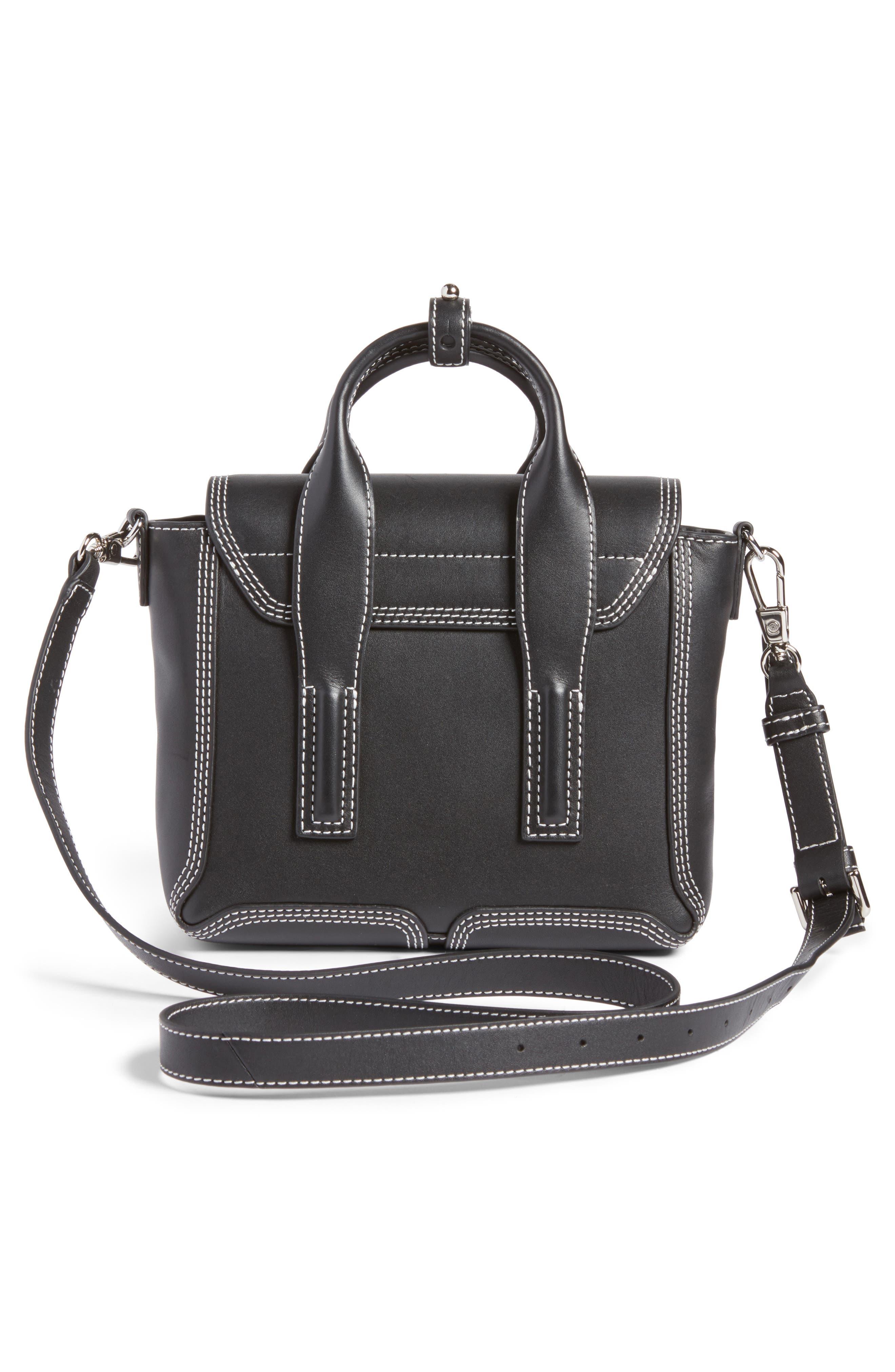 Mini Pashli Leather Satchel,                             Alternate thumbnail 2, color,                             Black