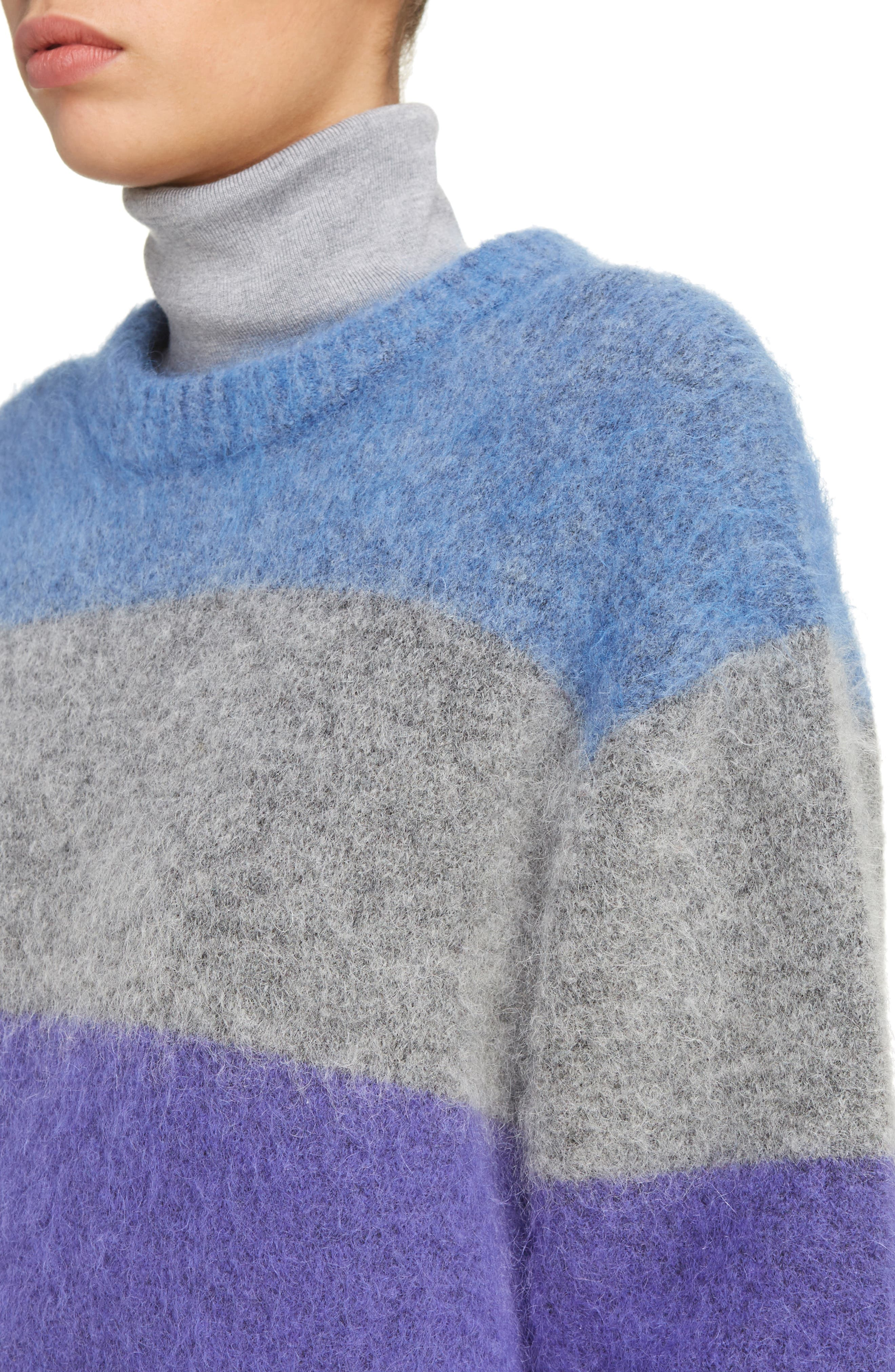 Alternate Image 5  - ACNE Studios Albah Multistripe Oversize Sweater