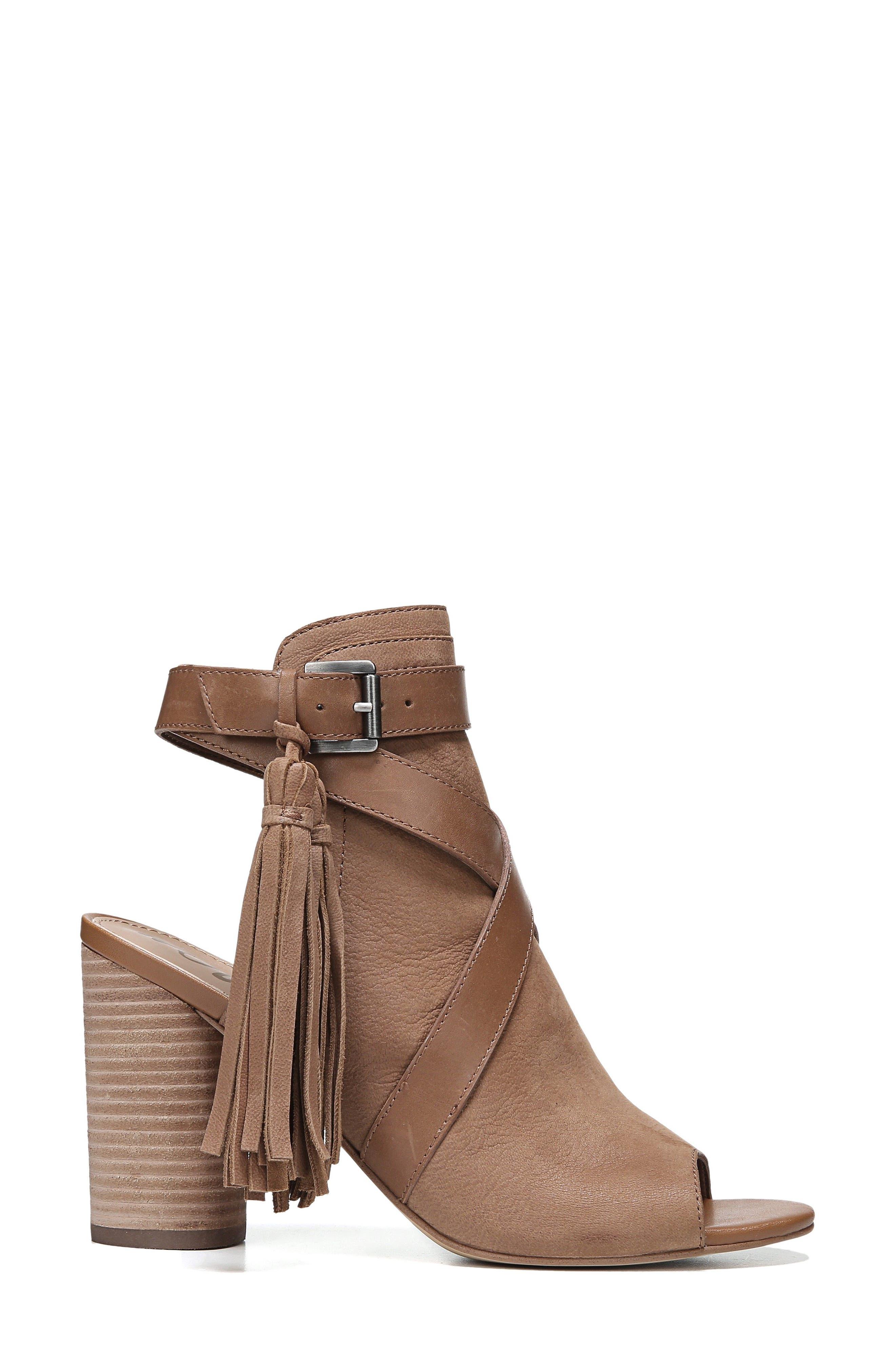 Vermont Block Heel Sandal,                             Alternate thumbnail 3, color,                             Deep Saddle Nubuck Leather
