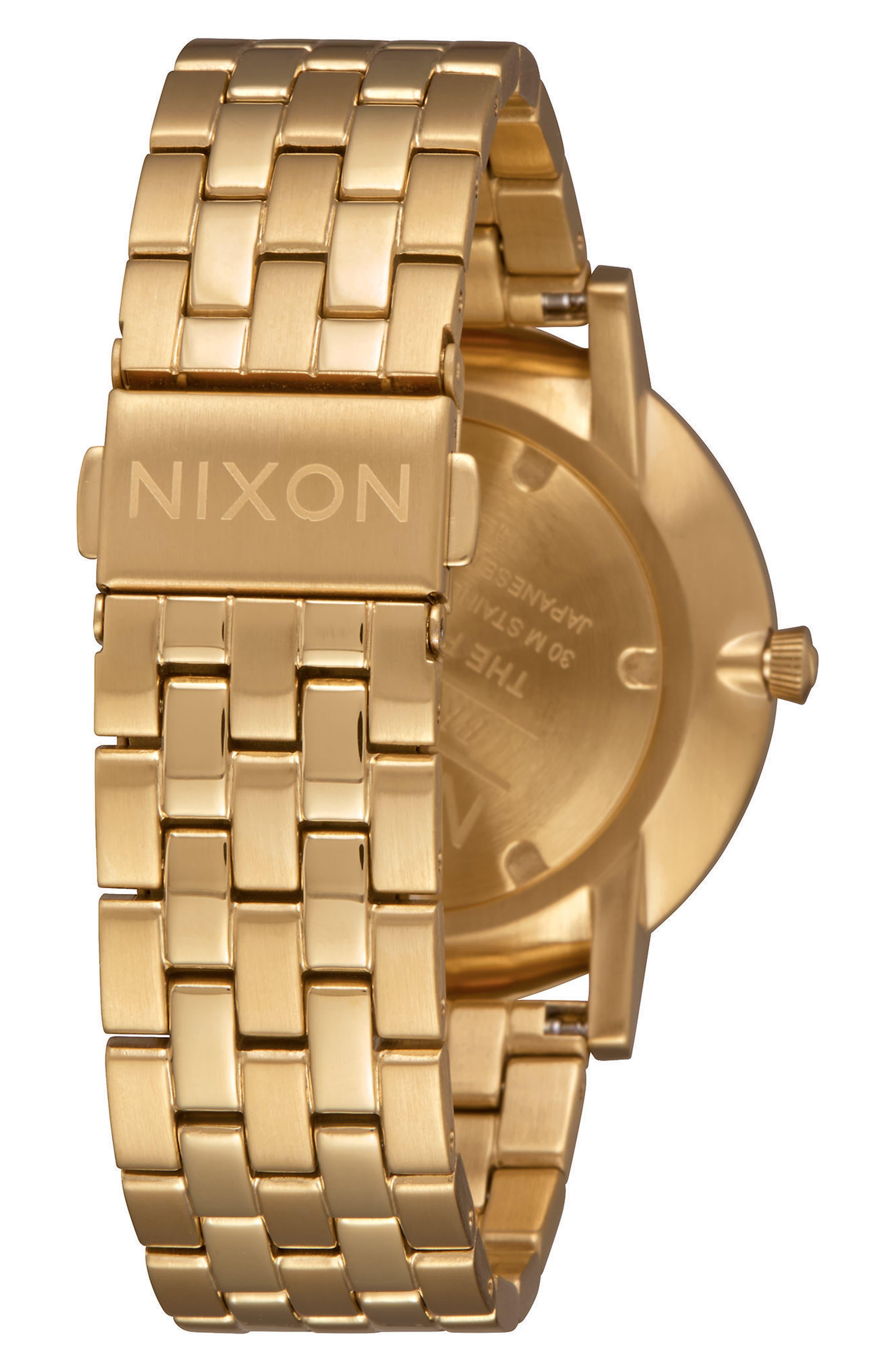 Porter Bracelet Watch, 40mm,                             Alternate thumbnail 2, color,                             Gold/ White/ Gold