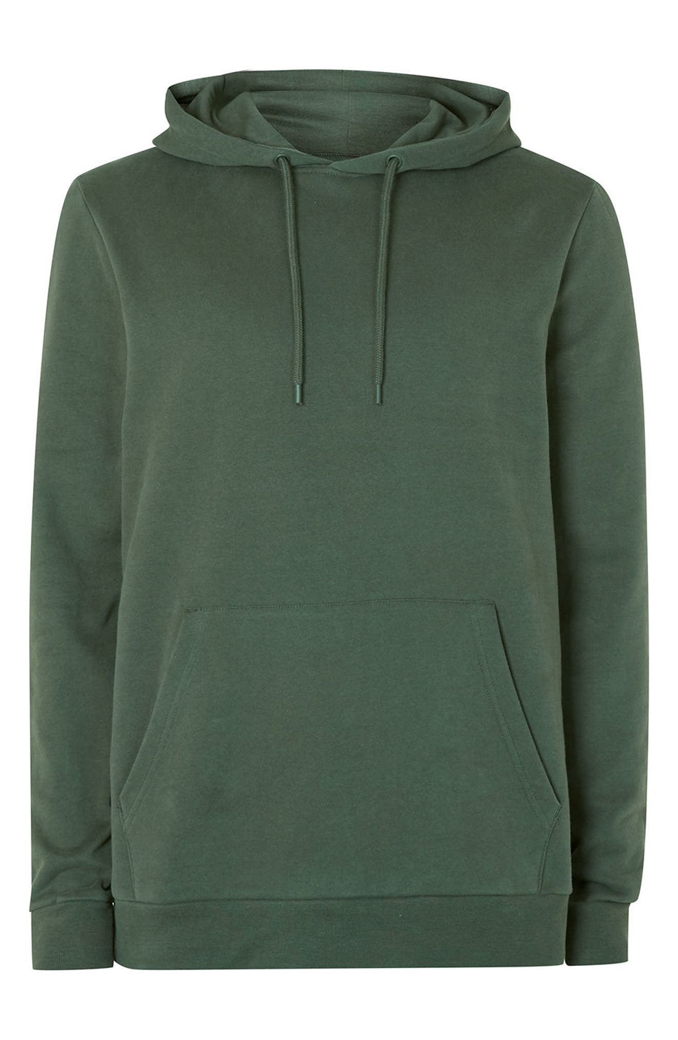 Classic Fit Hoodie,                             Alternate thumbnail 5, color,                             Olive
