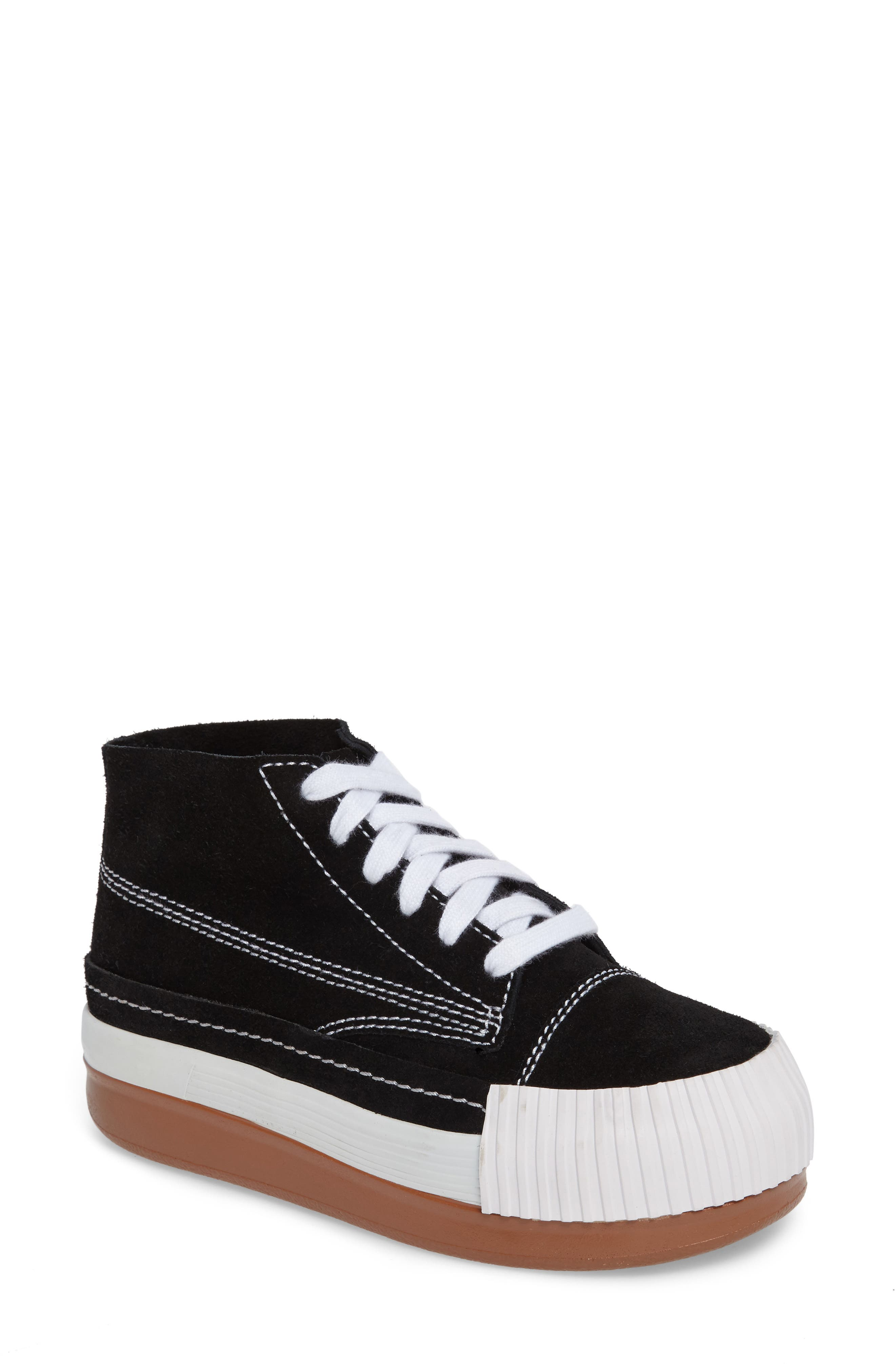 Kickflip Sneaker,                         Main,                         color, Black Suede