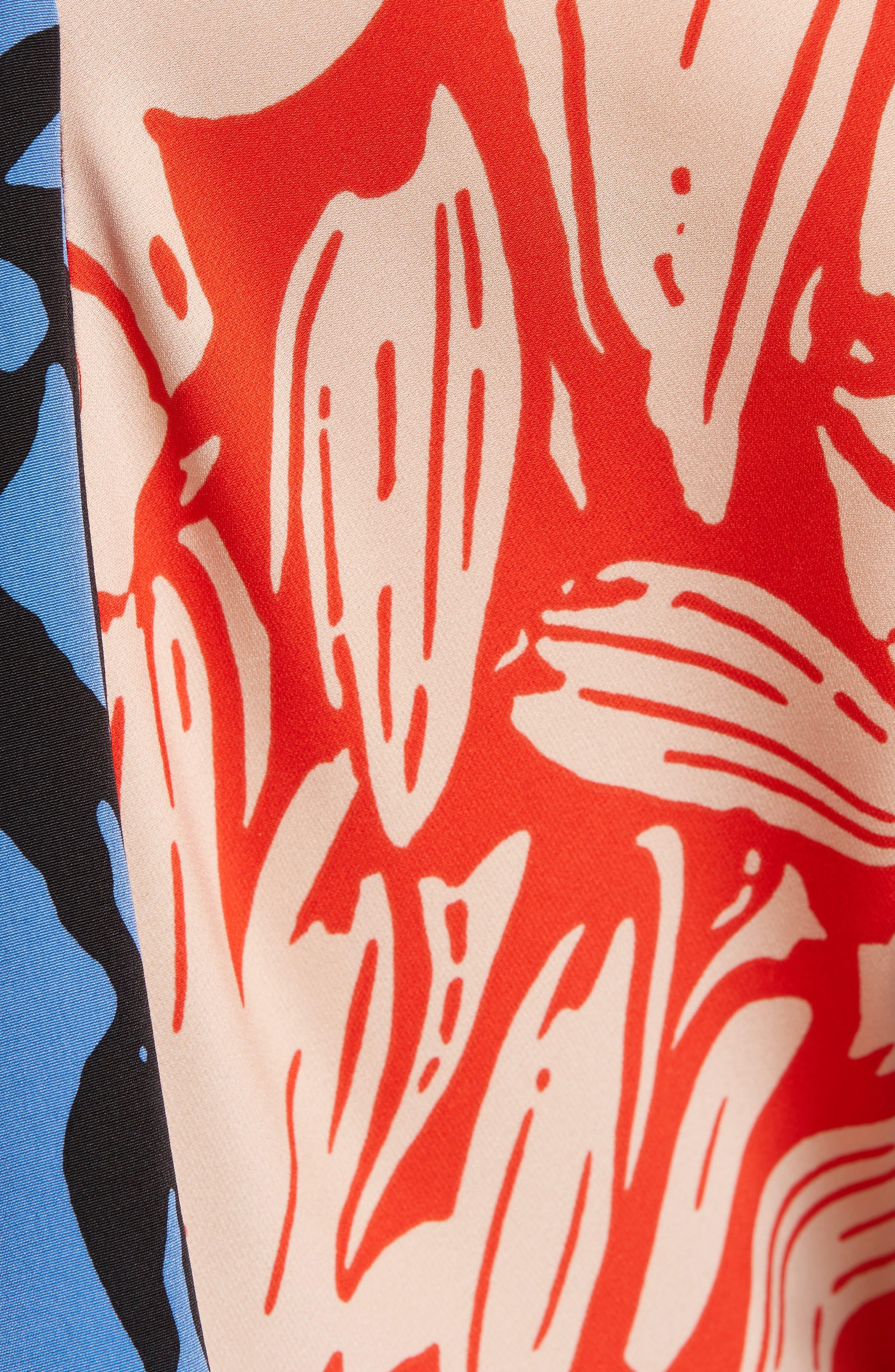 Alternate Image 5  - Diane von Furstenberg Mix Print Silk Ruffle Dress