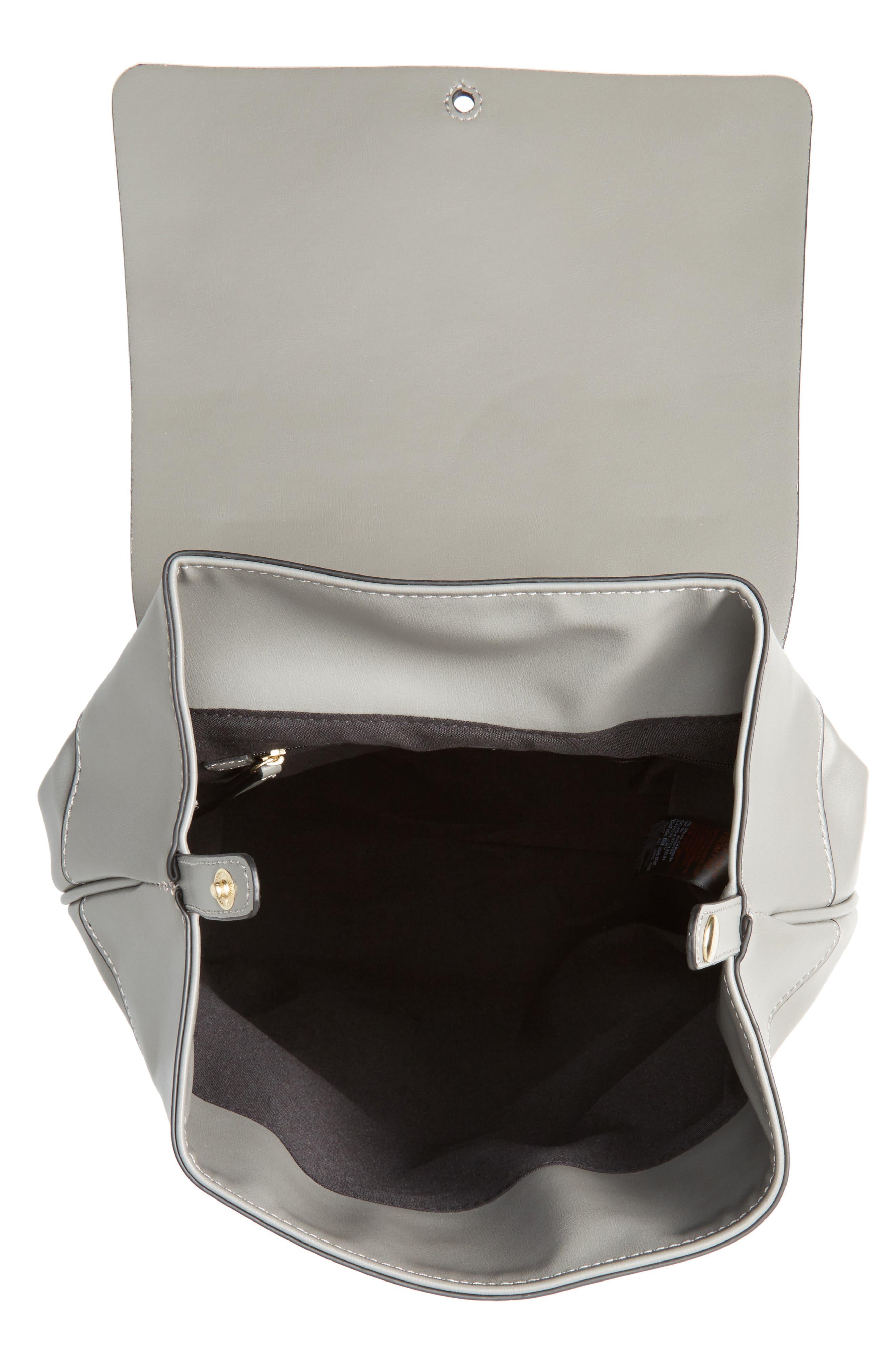 Alternate Image 4  - Topshop Barnet Faux Leather Backpack