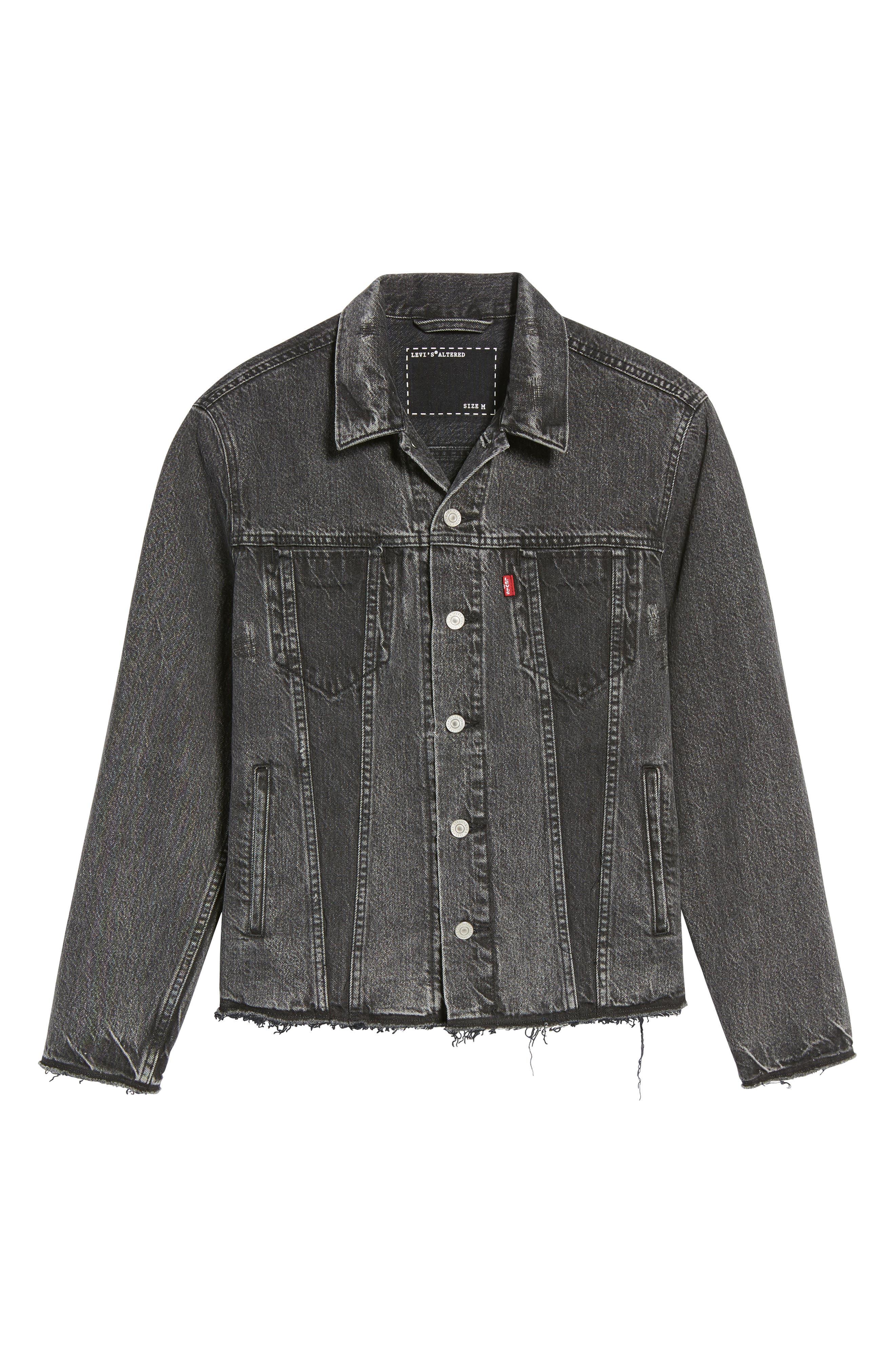 Alternate Image 6  - Levi's® Altered Distressed Denim Trucker Jacket
