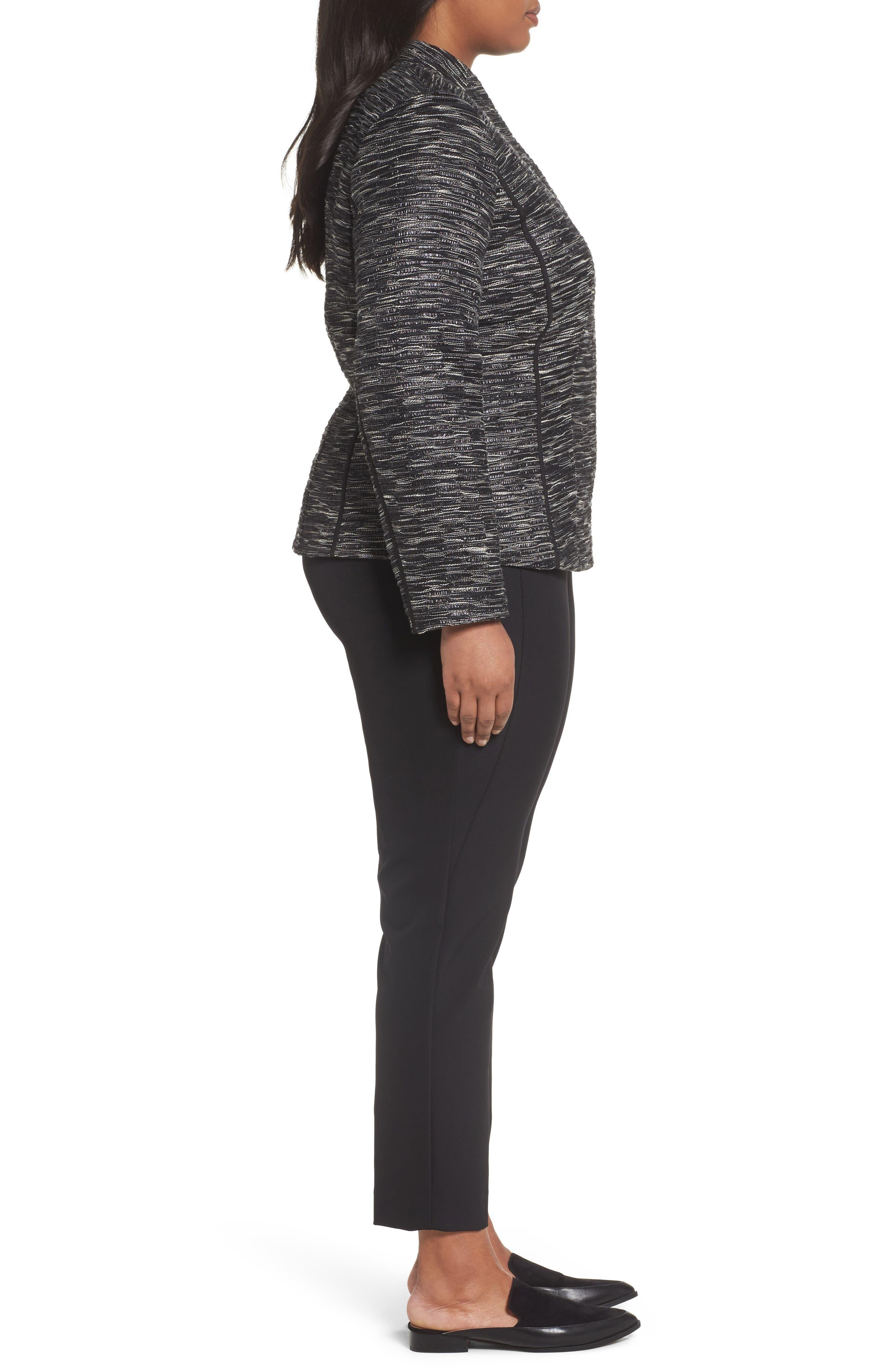 Meryl Zip Front Jacket,                             Alternate thumbnail 3, color,                             Black Multi