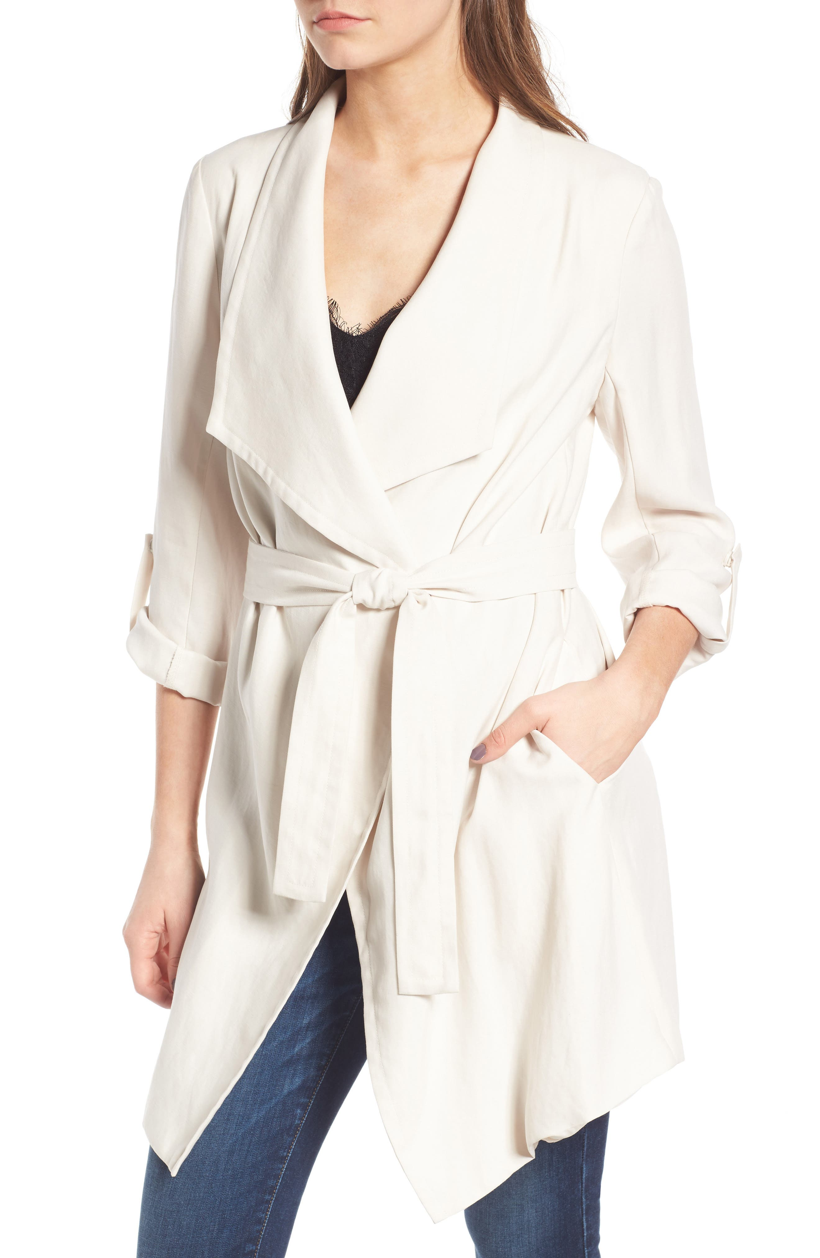Alternate Image 4  - ASTR the Label Drapey Roll Tab Sleeve Jacket