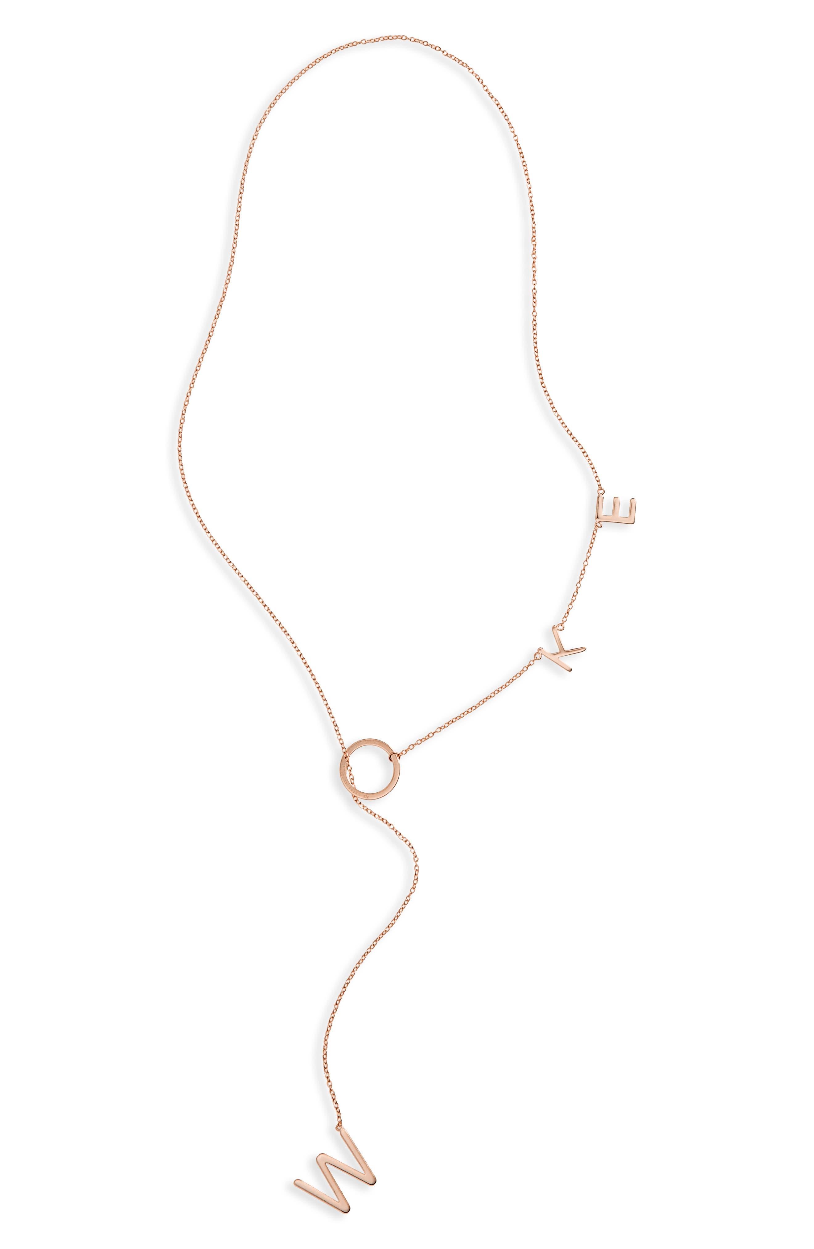 Adornia Woke Lariat Necklace