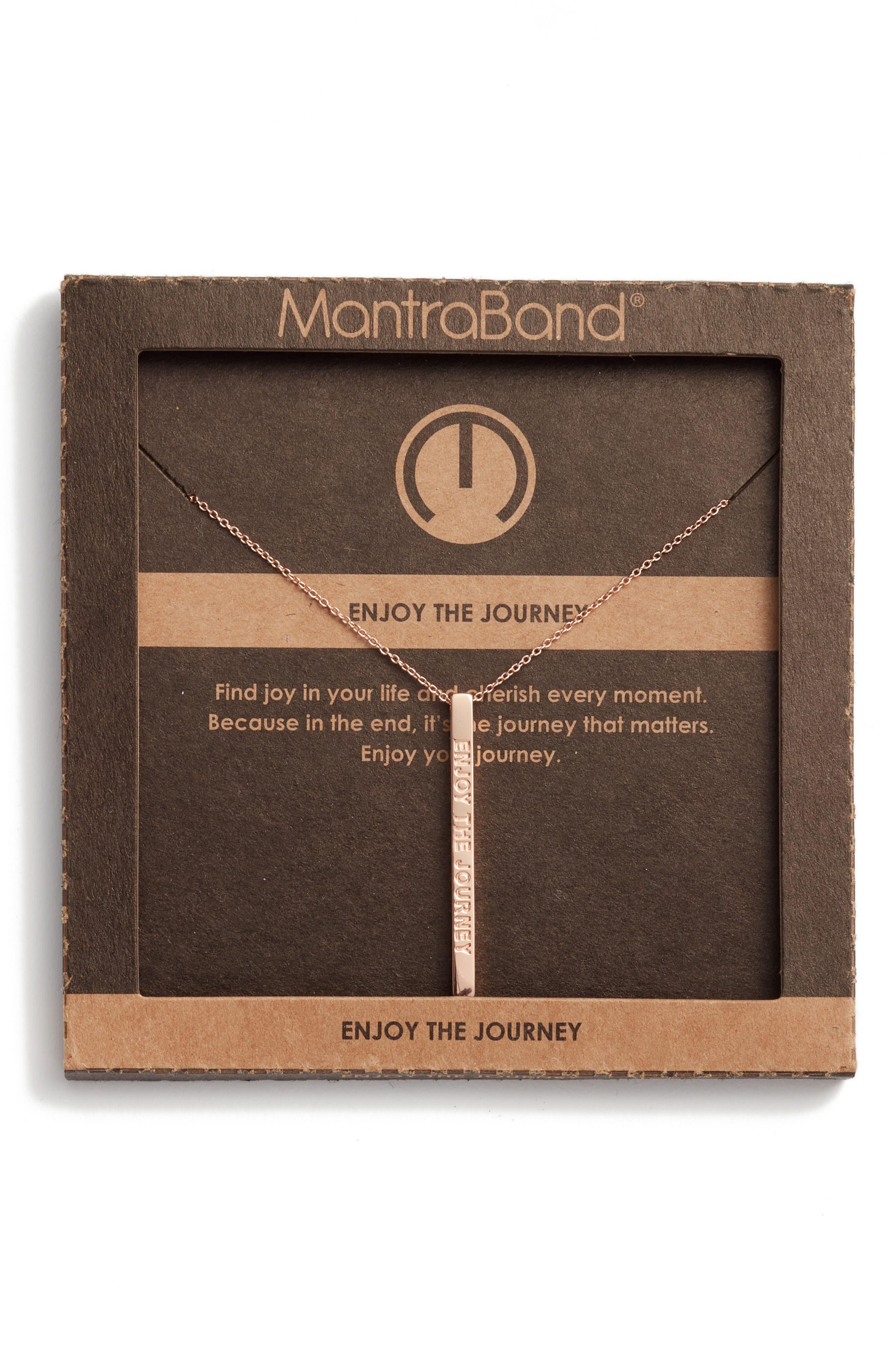 Alternate Image 3  - MantraBand® Enjoy the Journey Pendant Necklace