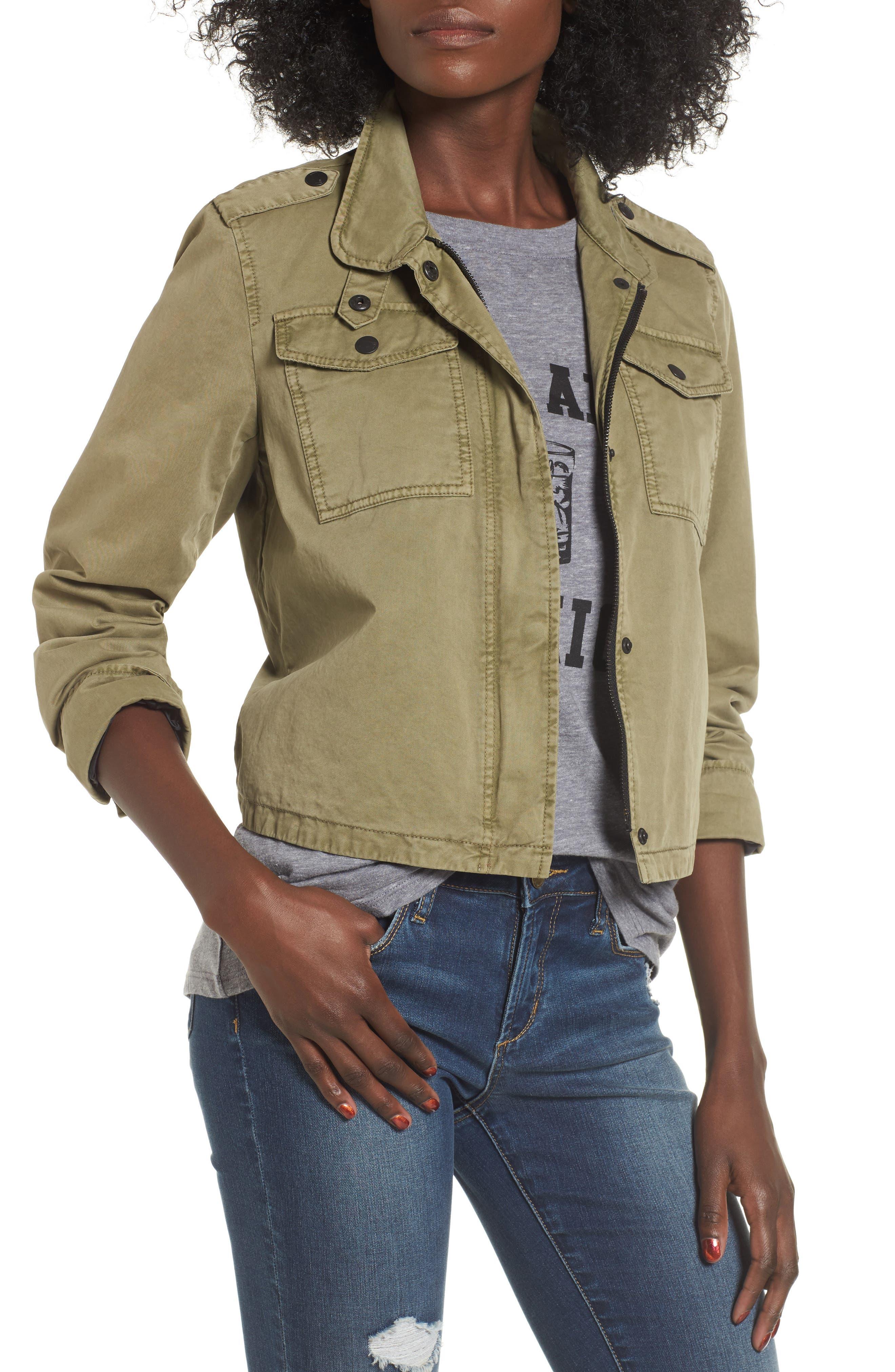 Alternate Image 1 Selected - Levi's® Crop Military Jacket
