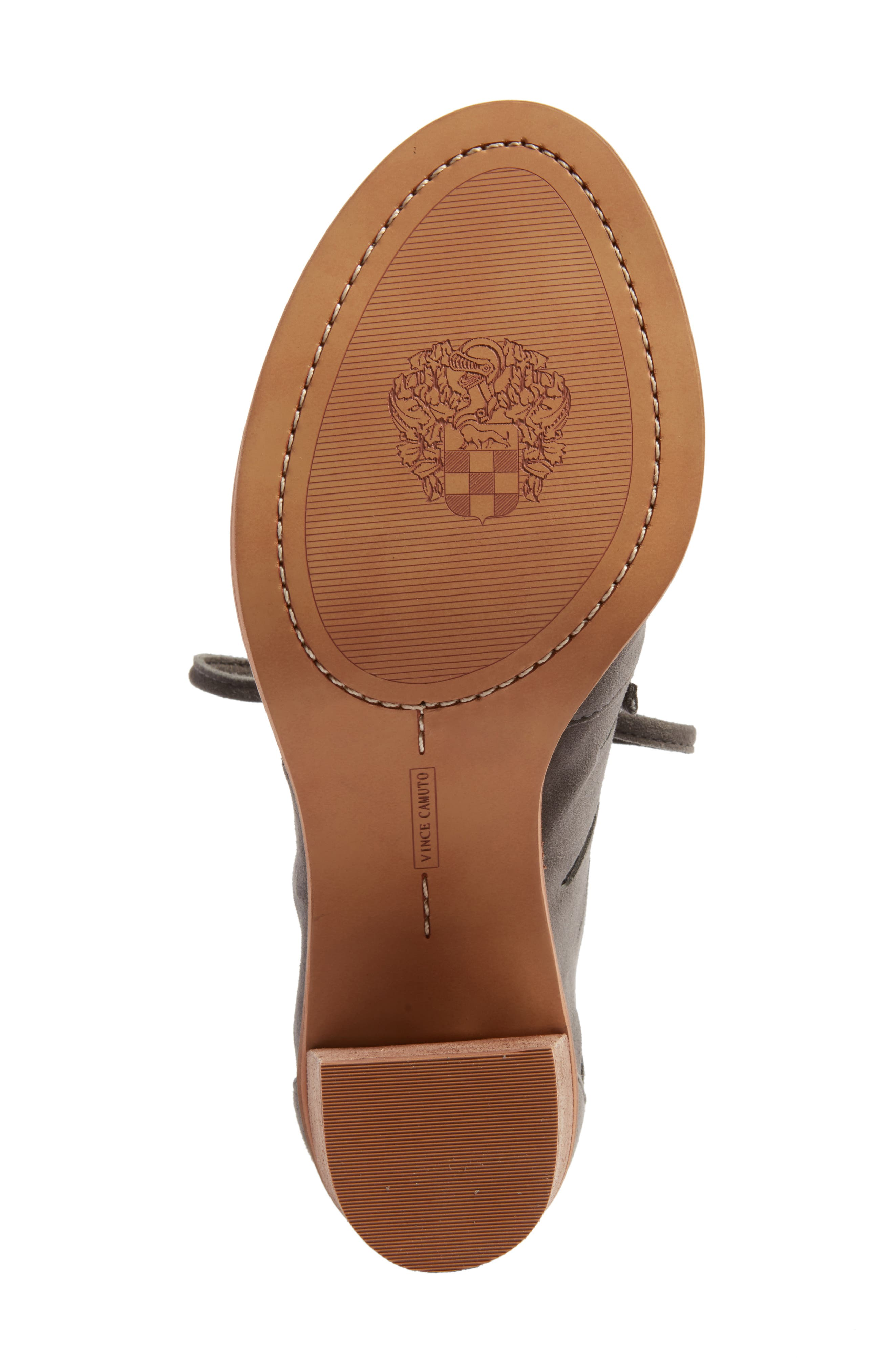 Tressa Perforated Lace-Up Sandal,                             Alternate thumbnail 6, color,                             Greystone Suede