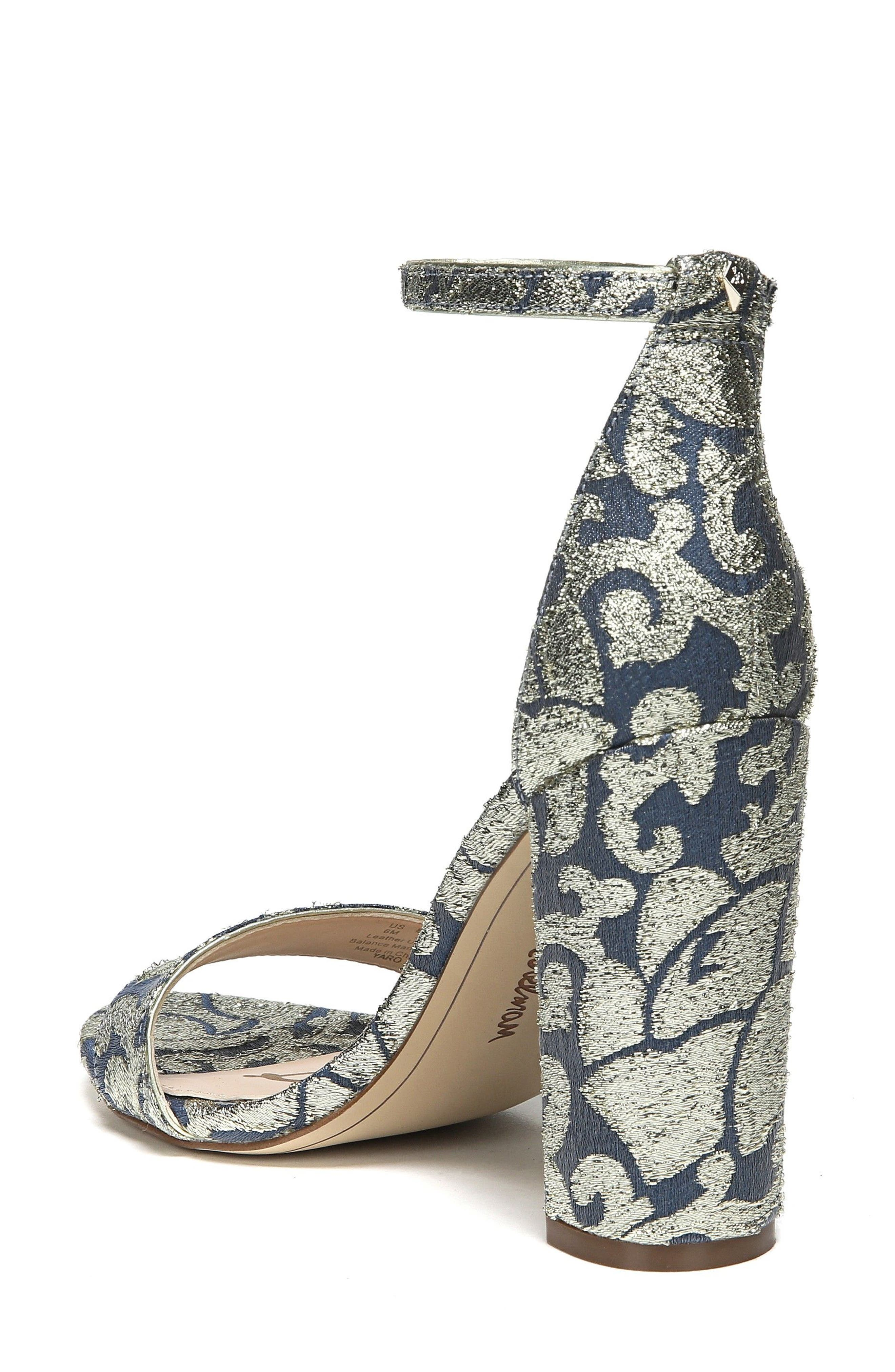 Yaro Ankle Strap Sandal,                             Alternate thumbnail 2, color,                             Blue Multi Canvas