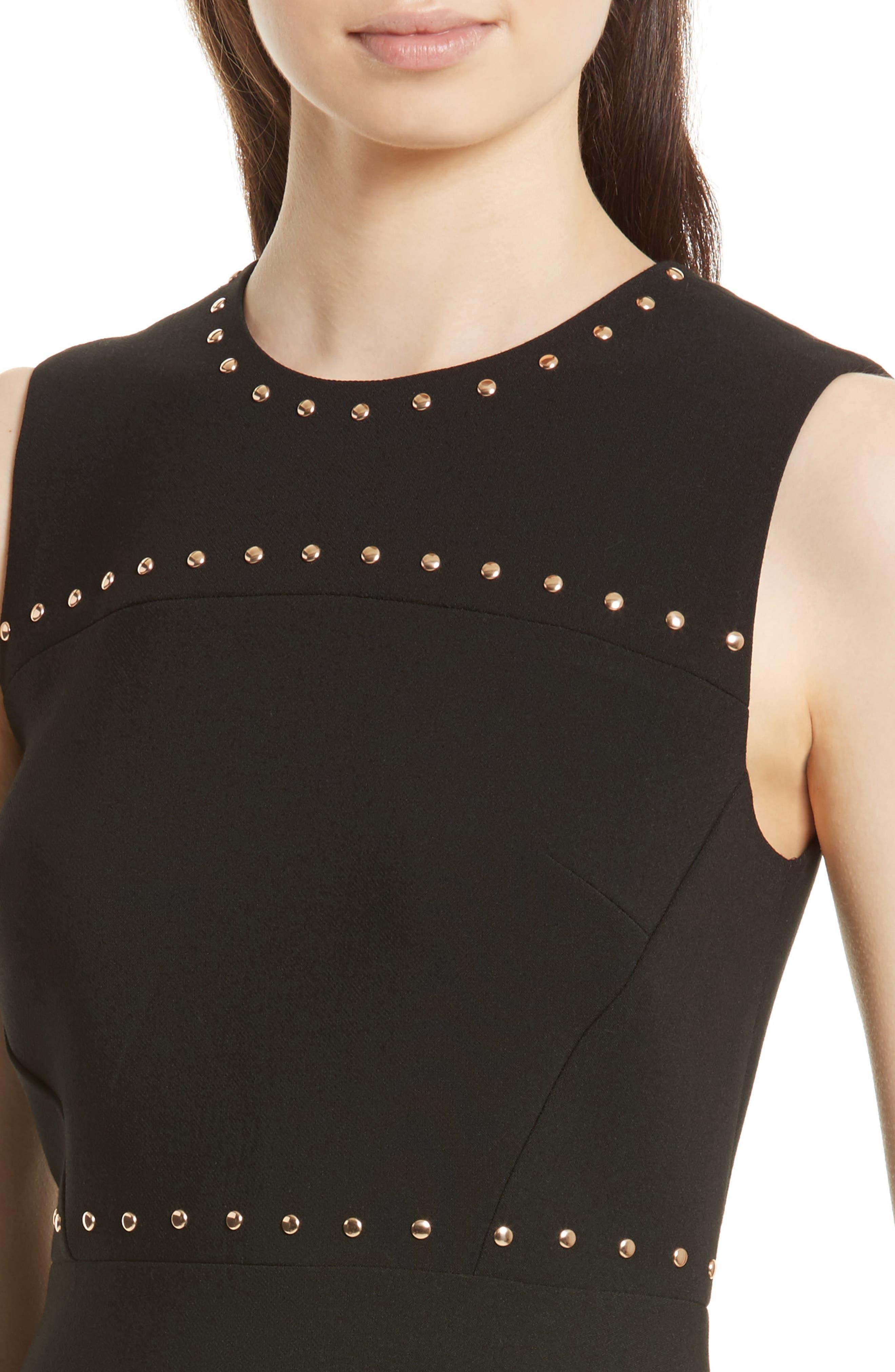Alternate Image 4  - kate spade new york studded a-line crepe dress