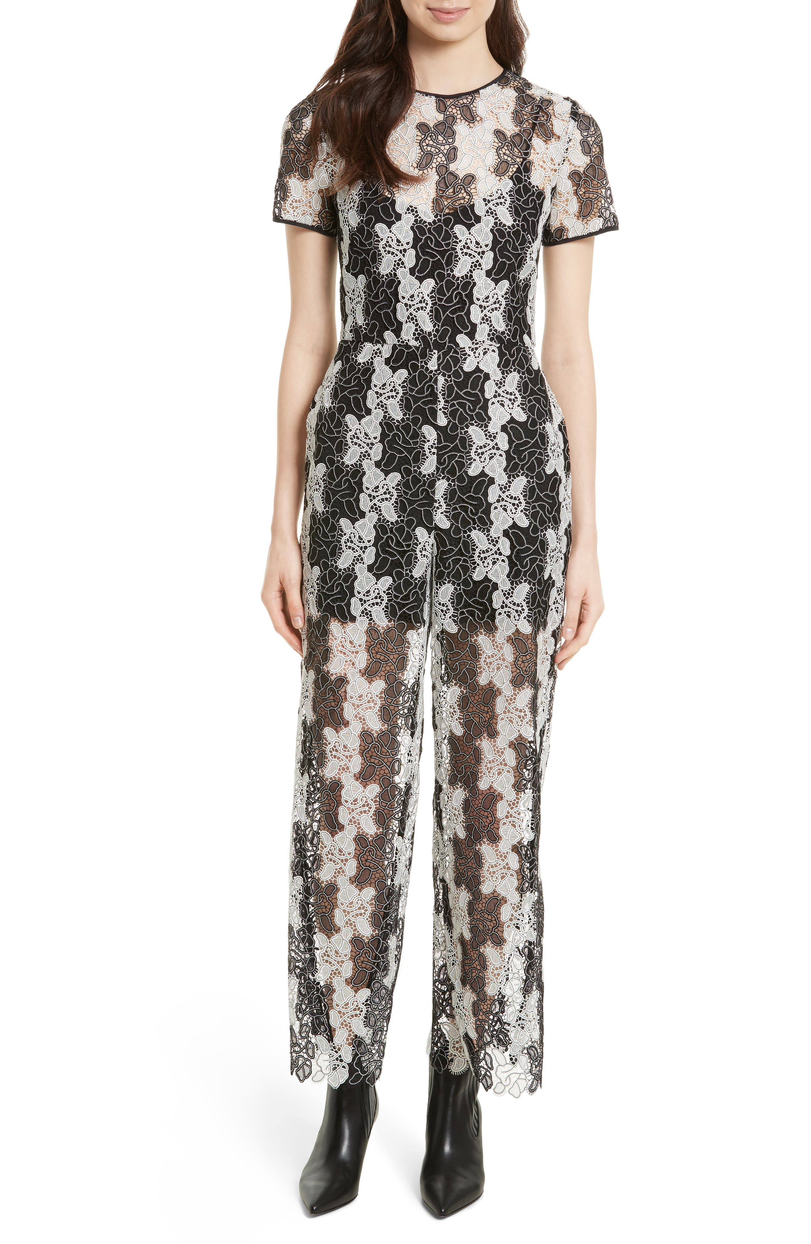 Main Image - Diane von Furstenberg Lace Jumpsuit