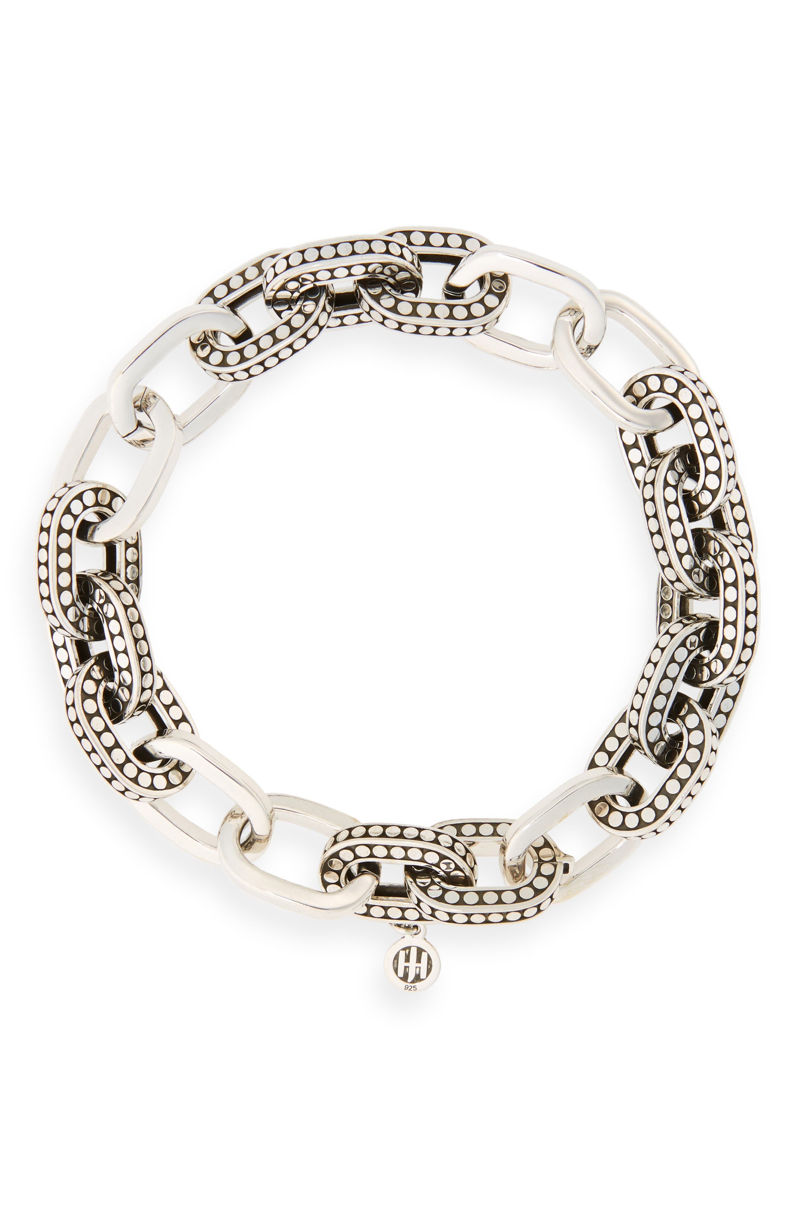 Dot Link Bracelet,                             Main thumbnail 1, color,                             Silver