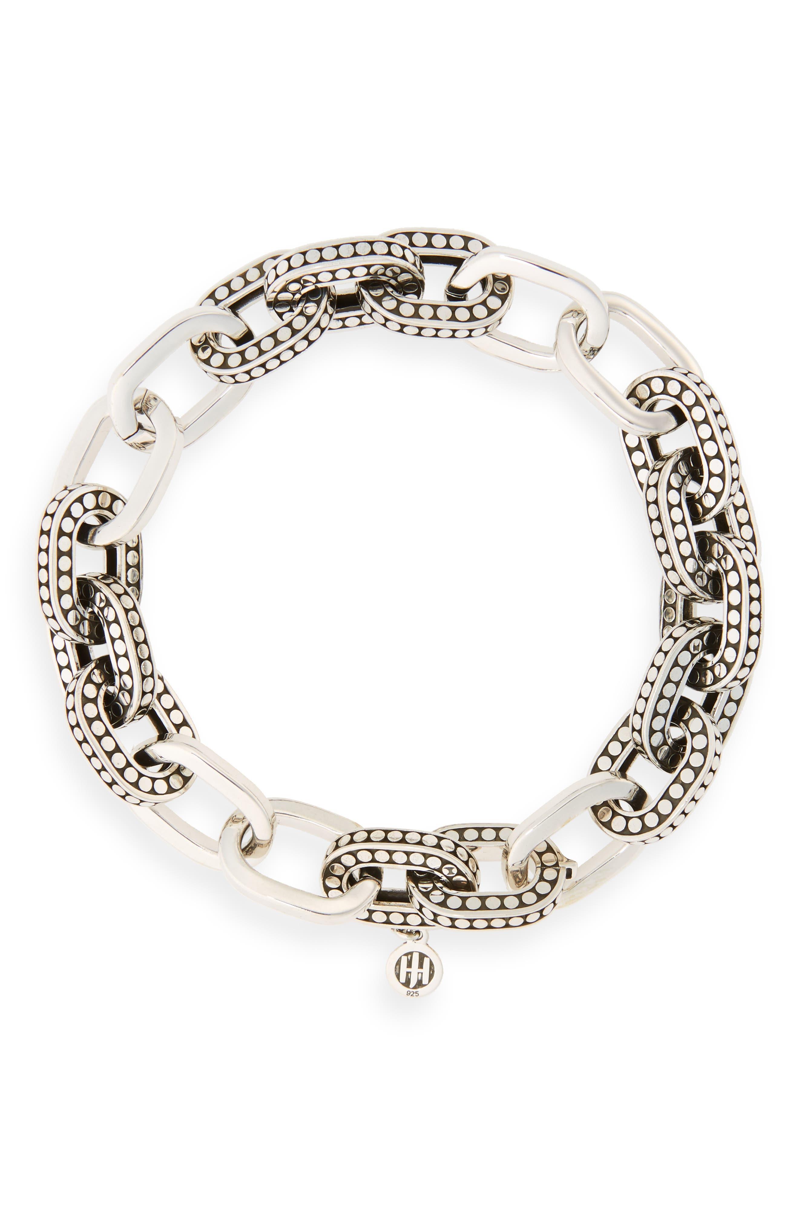 Dot Link Bracelet,                         Main,                         color, Silver